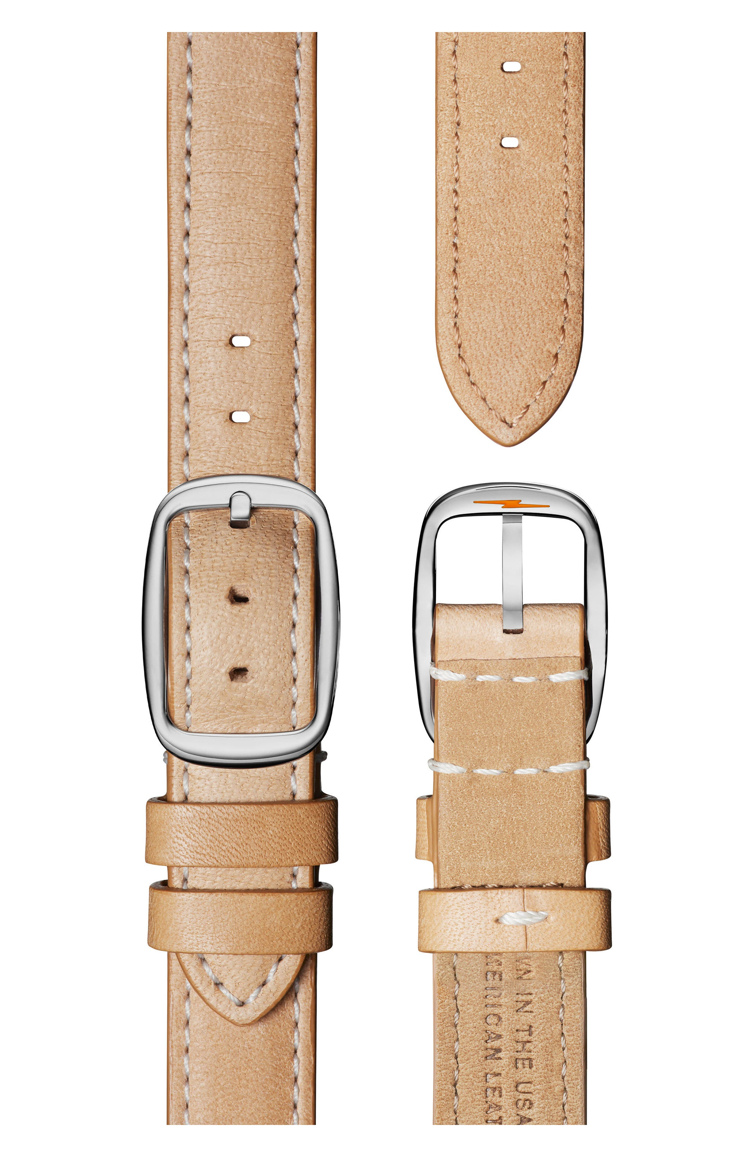 The Canfield Alligator Strap Watch, 38mm,                             Alternate thumbnail 4, color,                             Natural/ Metallic/ Silver