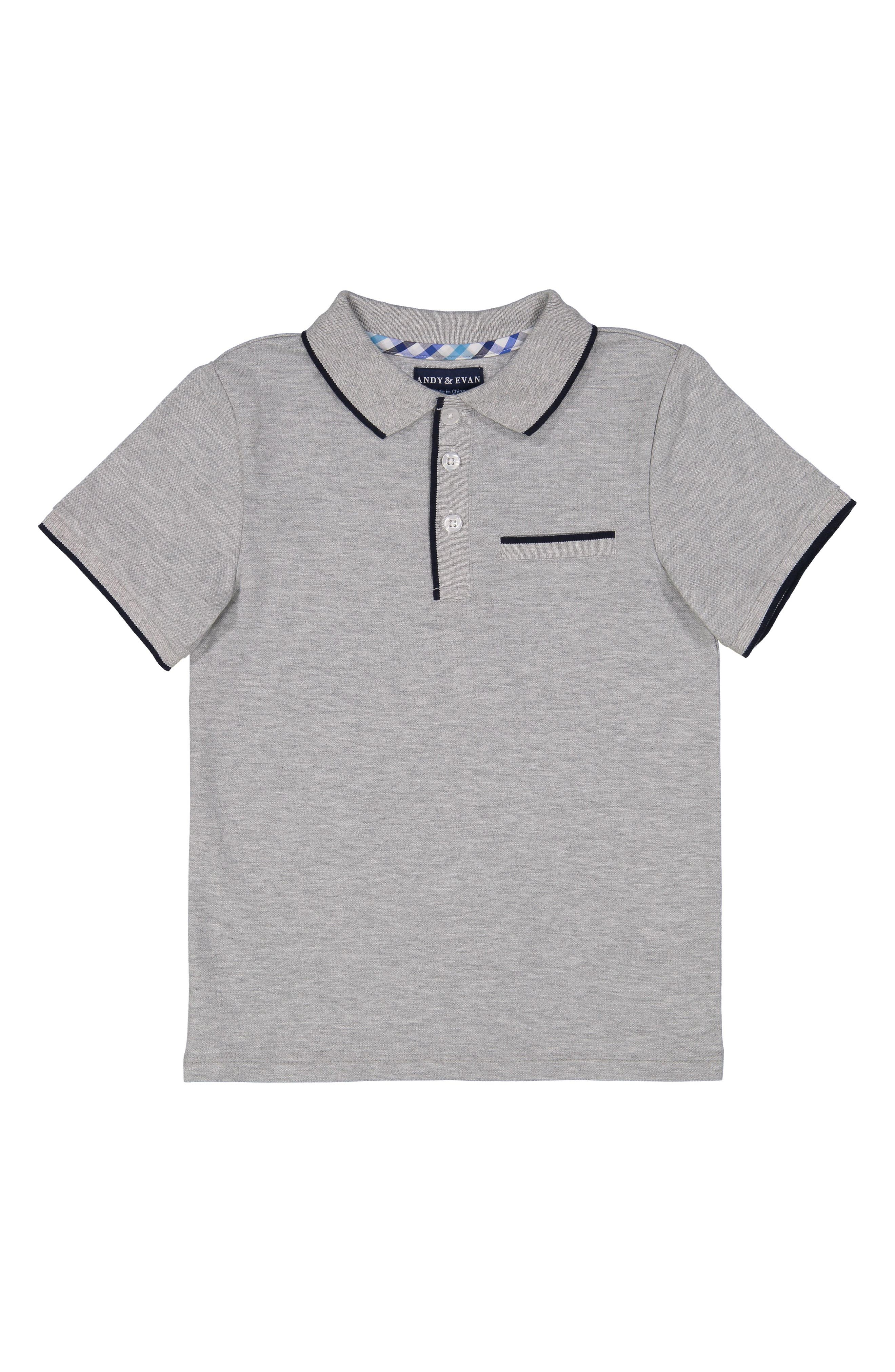 Grey Polo,                             Main thumbnail 1, color,                             Grey