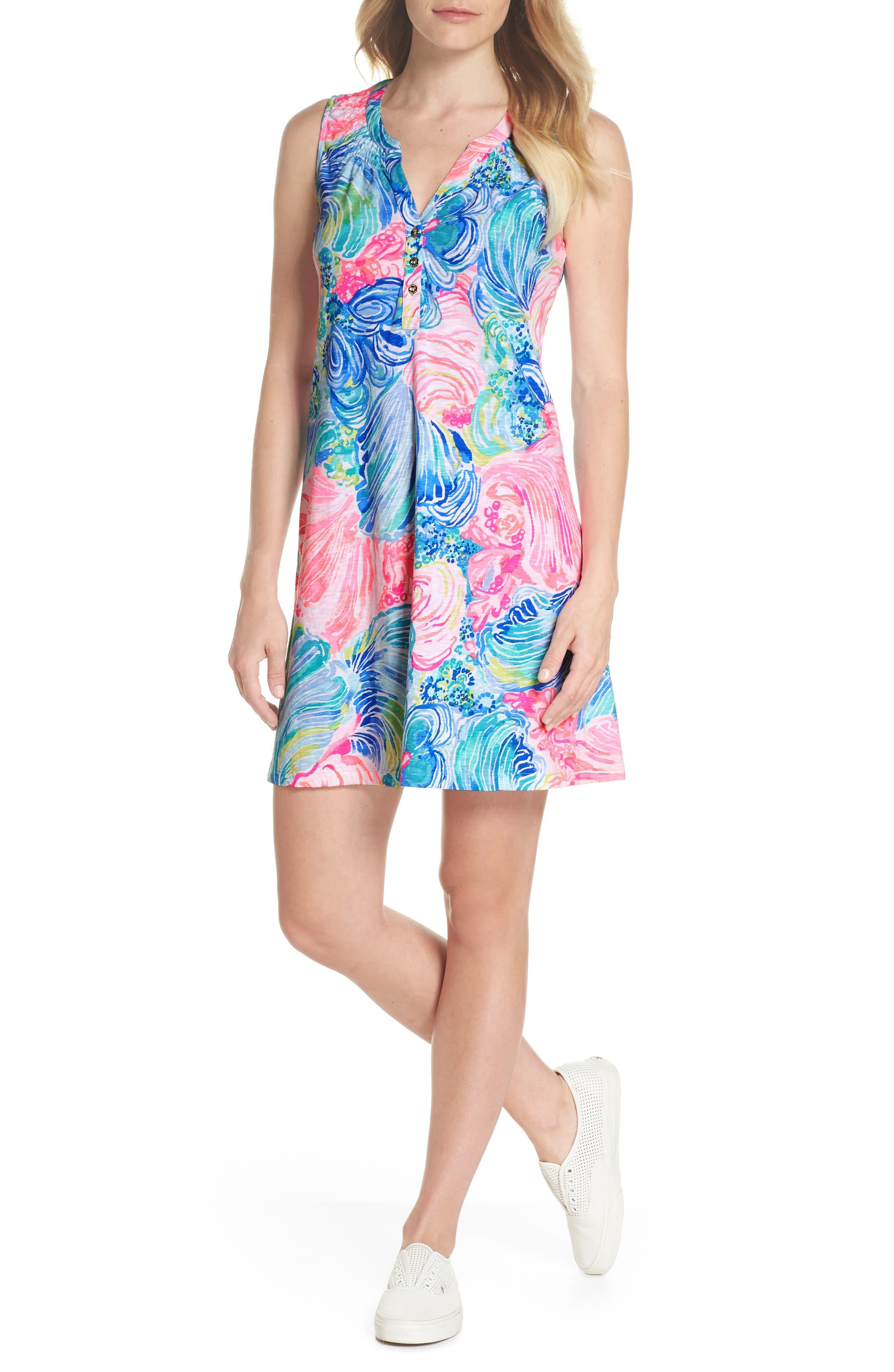 Essie Shift Dress,                             Main thumbnail 1, color,                             Multi Beach Please