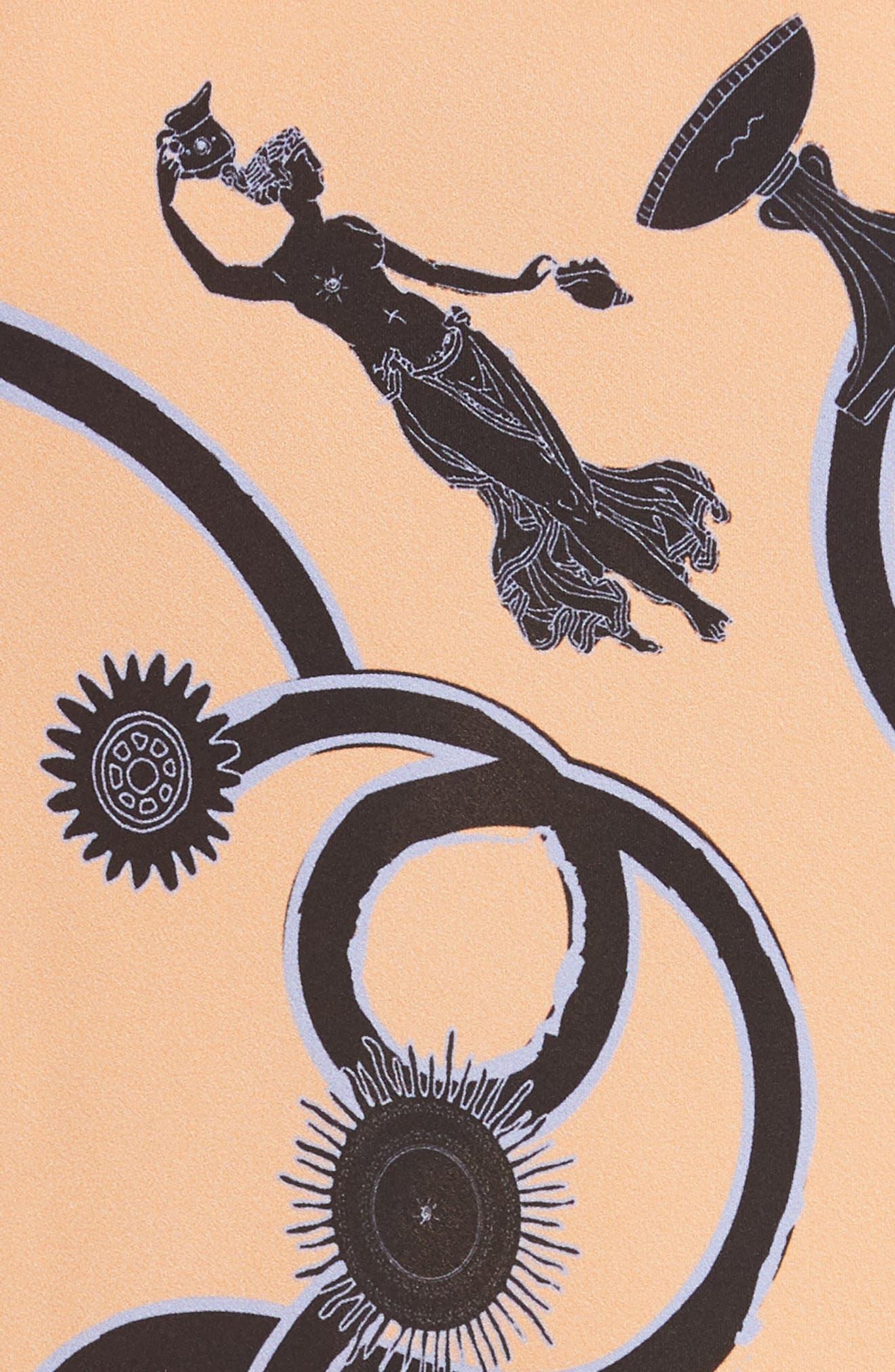 Vast Georgette Slipdress,                             Alternate thumbnail 5, color,                             Orange