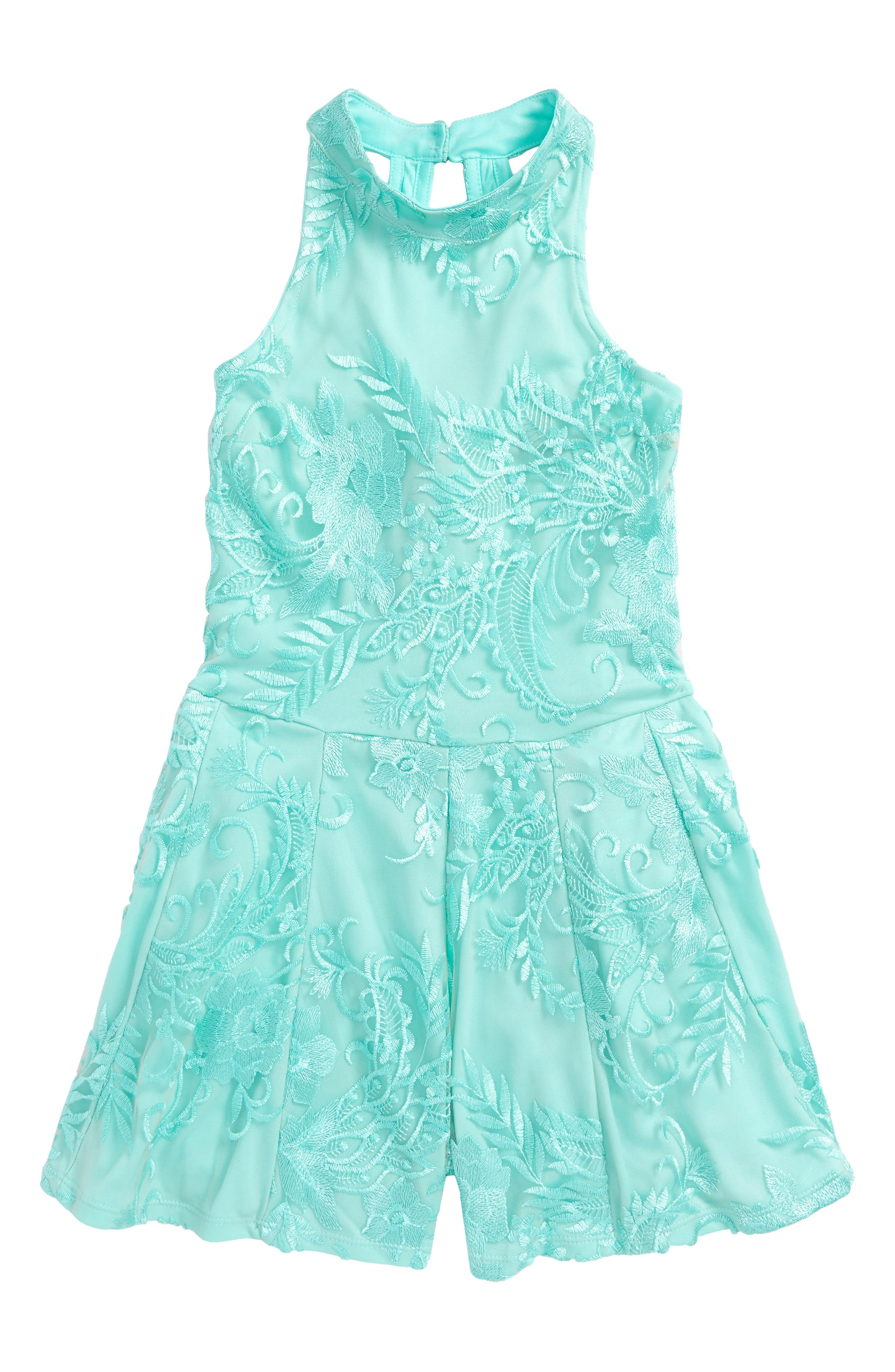 Miss Behave Safira Embroidered Romper (Big Girls)