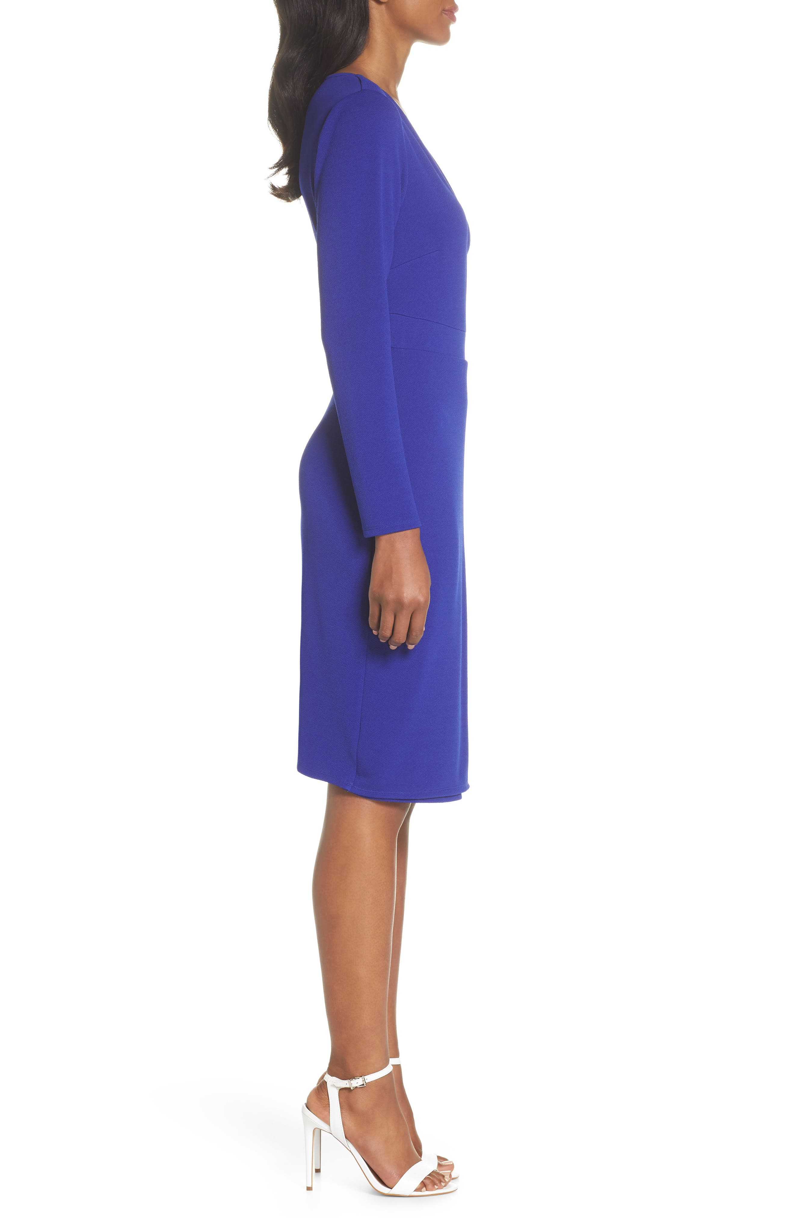 Ring Tie Wrap Dress,                             Alternate thumbnail 2, color,                             Cobalt