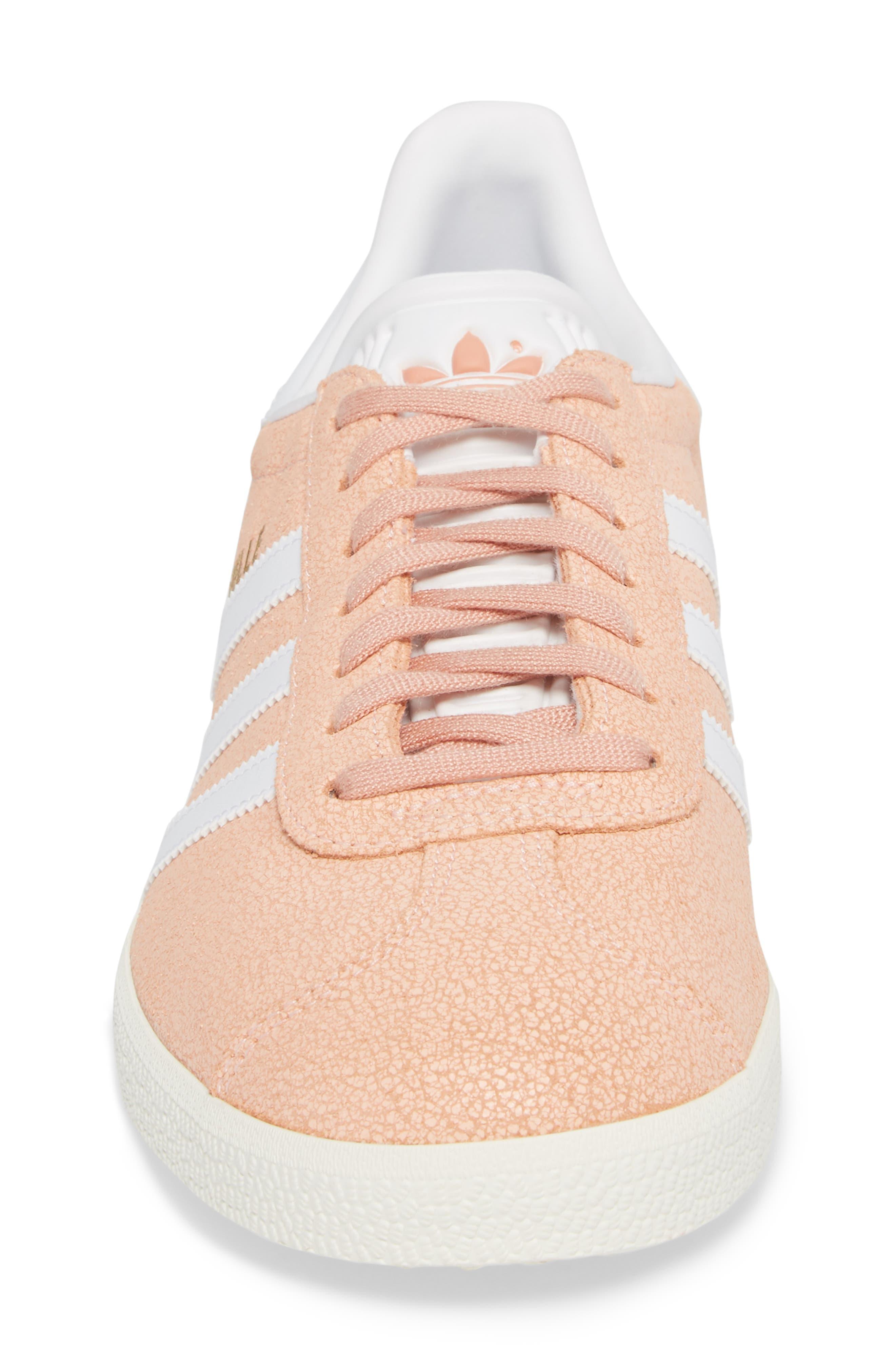 Gazelle Sneaker,                             Alternate thumbnail 4, color,                             Clear Orange/ White/ Off White