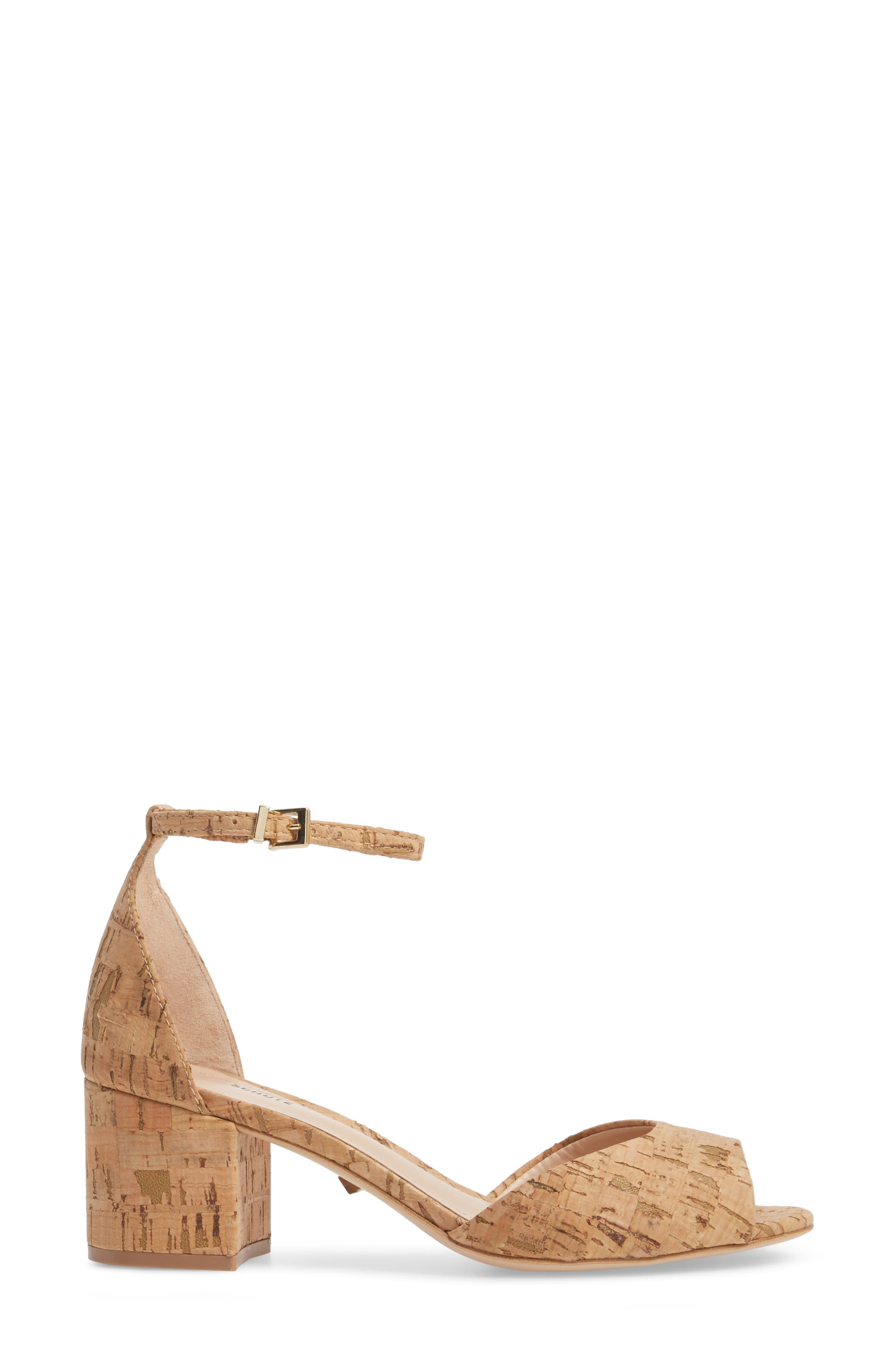 Roama Block Heel Sandal,                             Alternate thumbnail 3, color,                             Natural