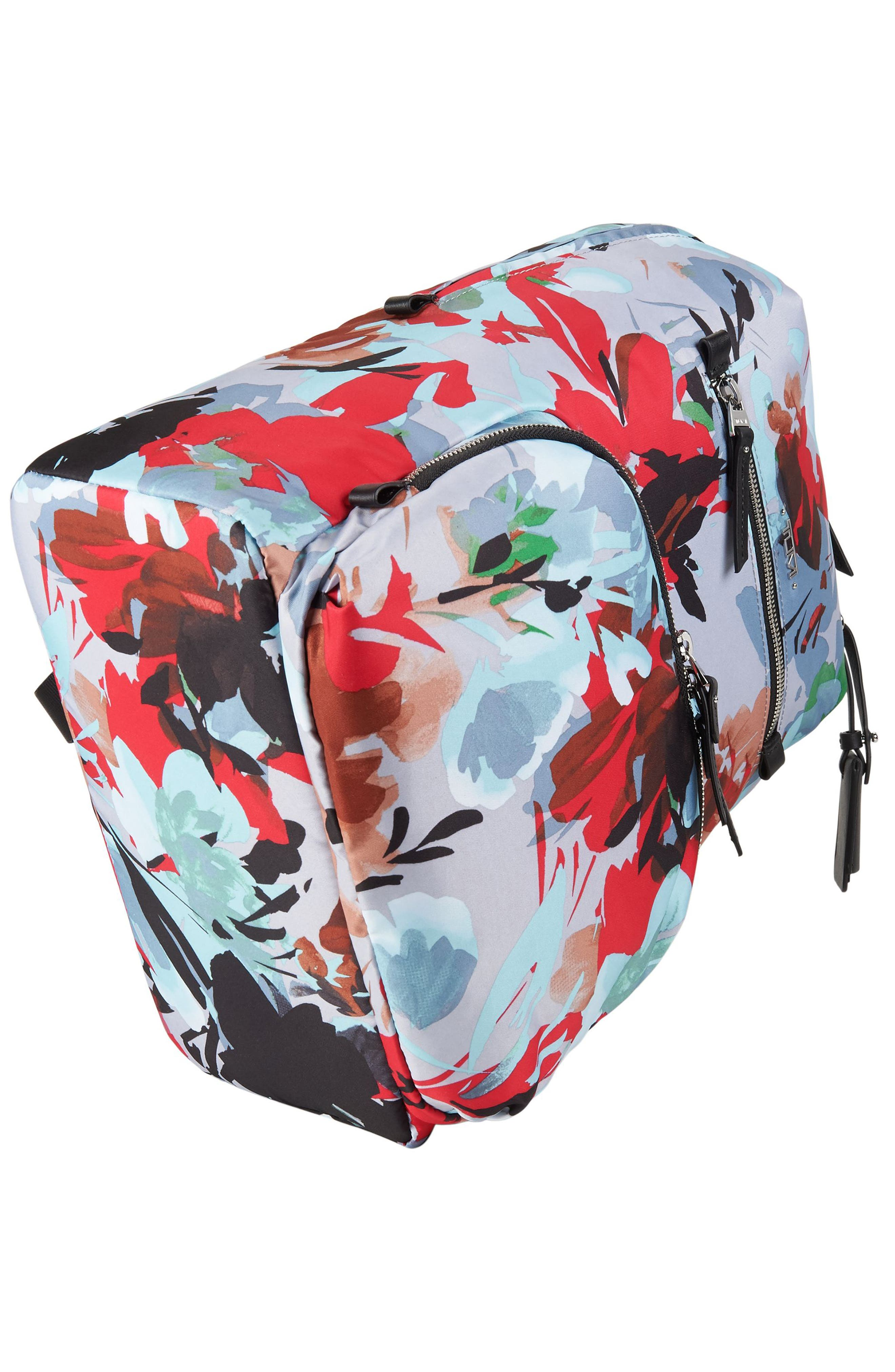 Voyageur Halle Nylon Backpack,                             Alternate thumbnail 5, color,                             Pacific Floral