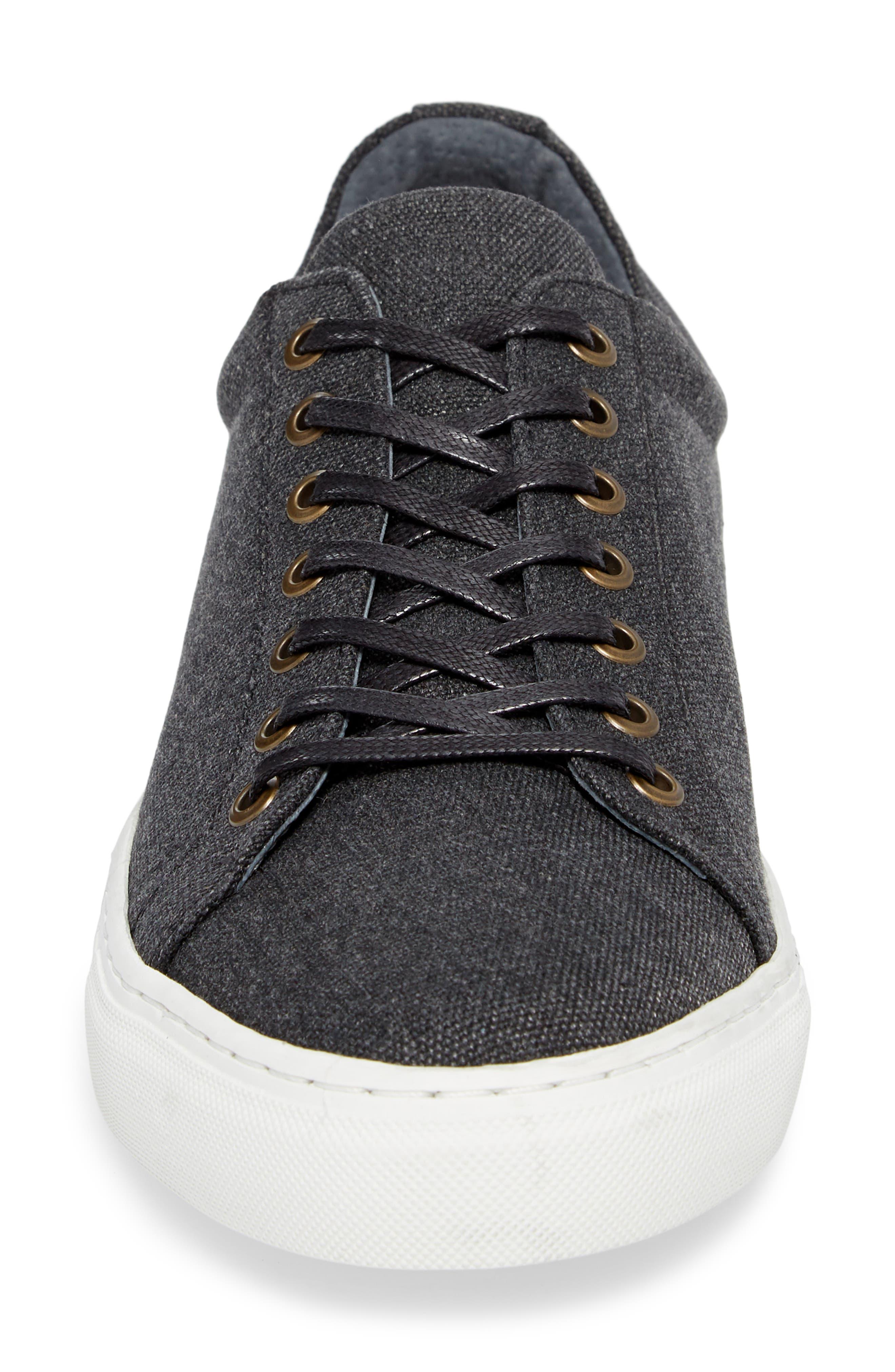 Mark Low Top Sneaker,                             Alternate thumbnail 4, color,                             Black Canvas