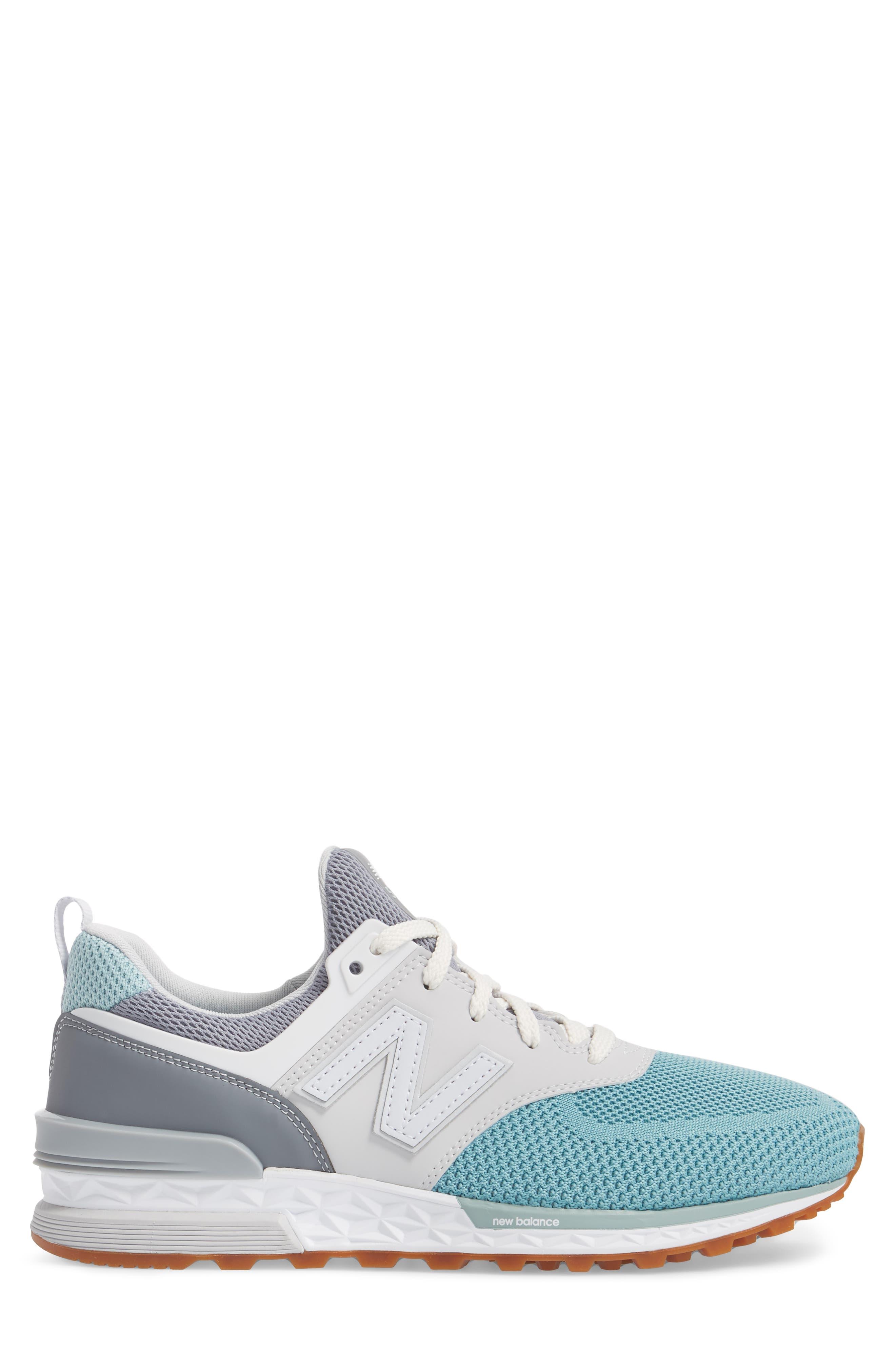 574 Fresh Foam Sport Sneaker,                             Alternate thumbnail 3, color,                             Gunmetal