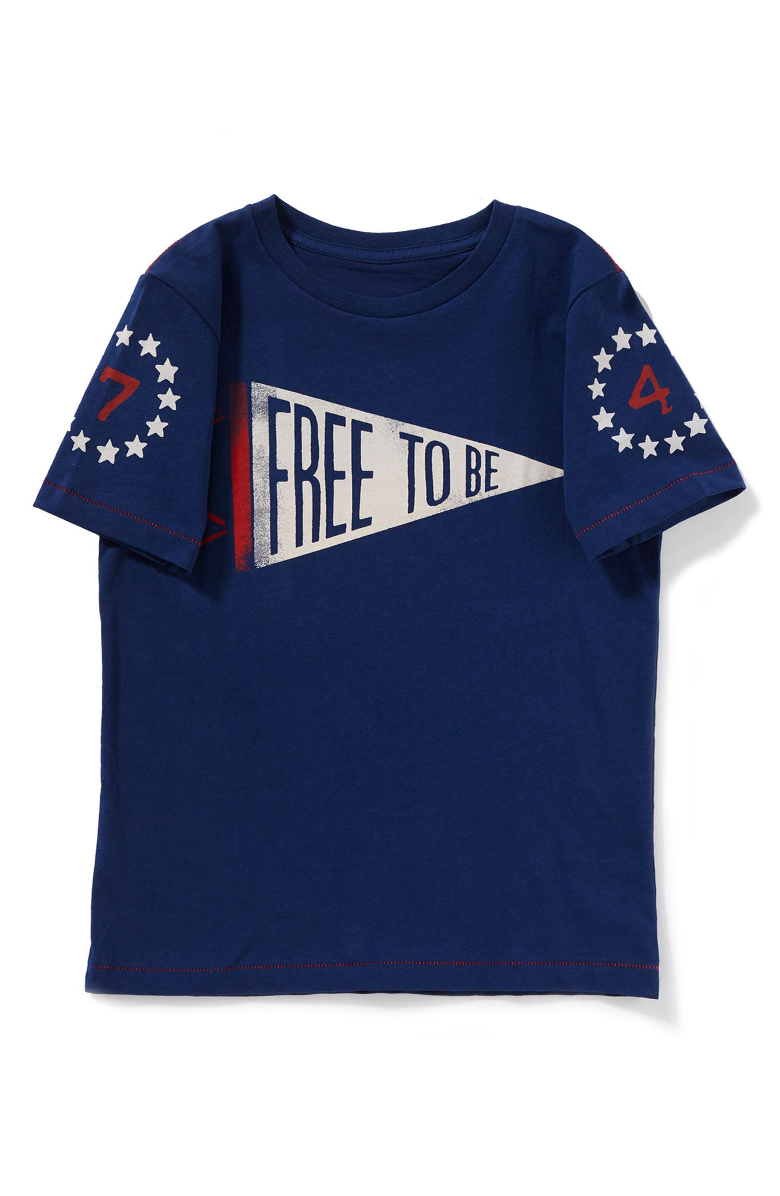 Free to Be Graphic T-Shirt,                             Alternate thumbnail 2, color,                             Navy