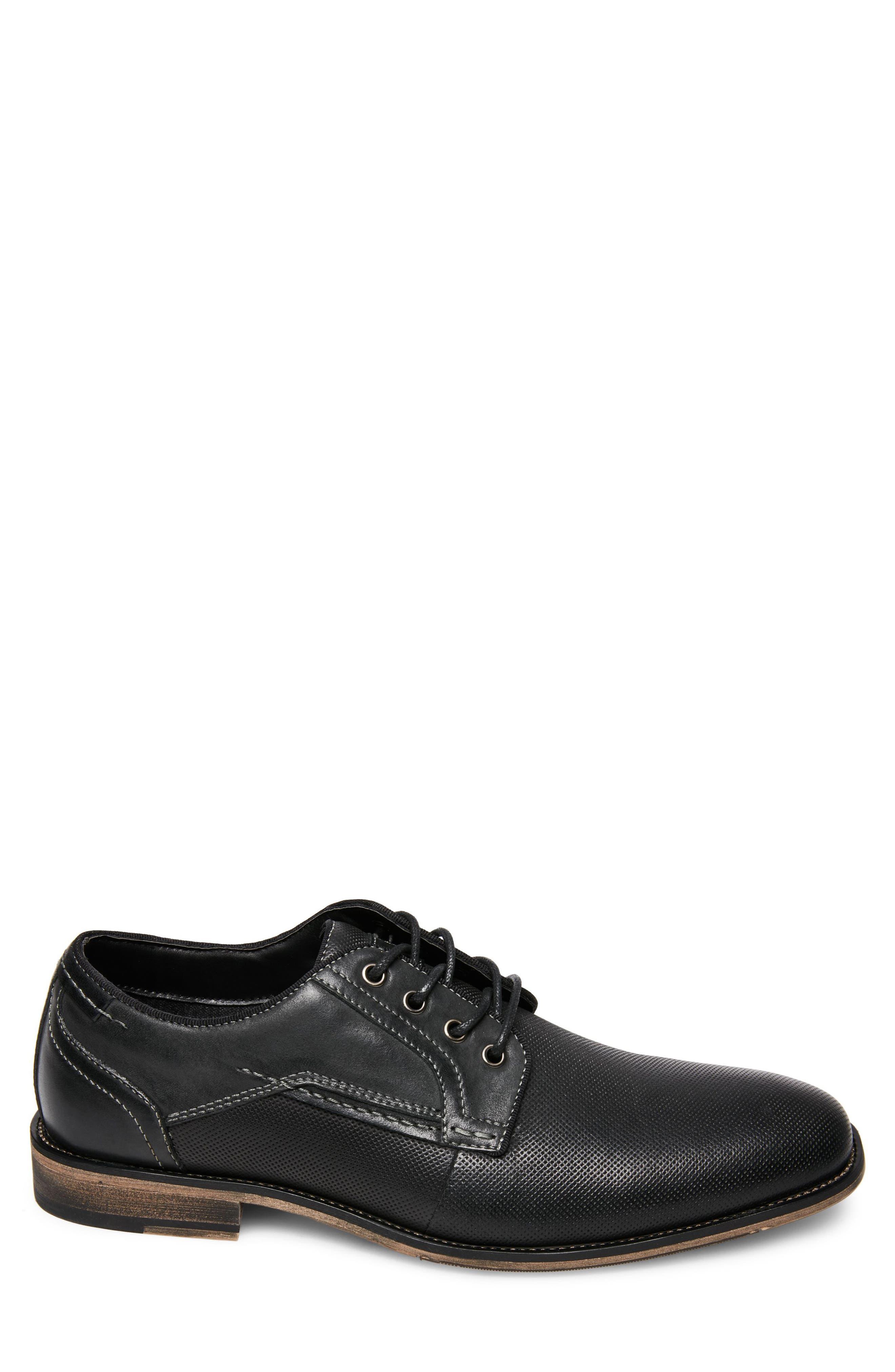 Jaysun Embossed Plain Toe Derby,                             Alternate thumbnail 3, color,                             Dark Grey Leather