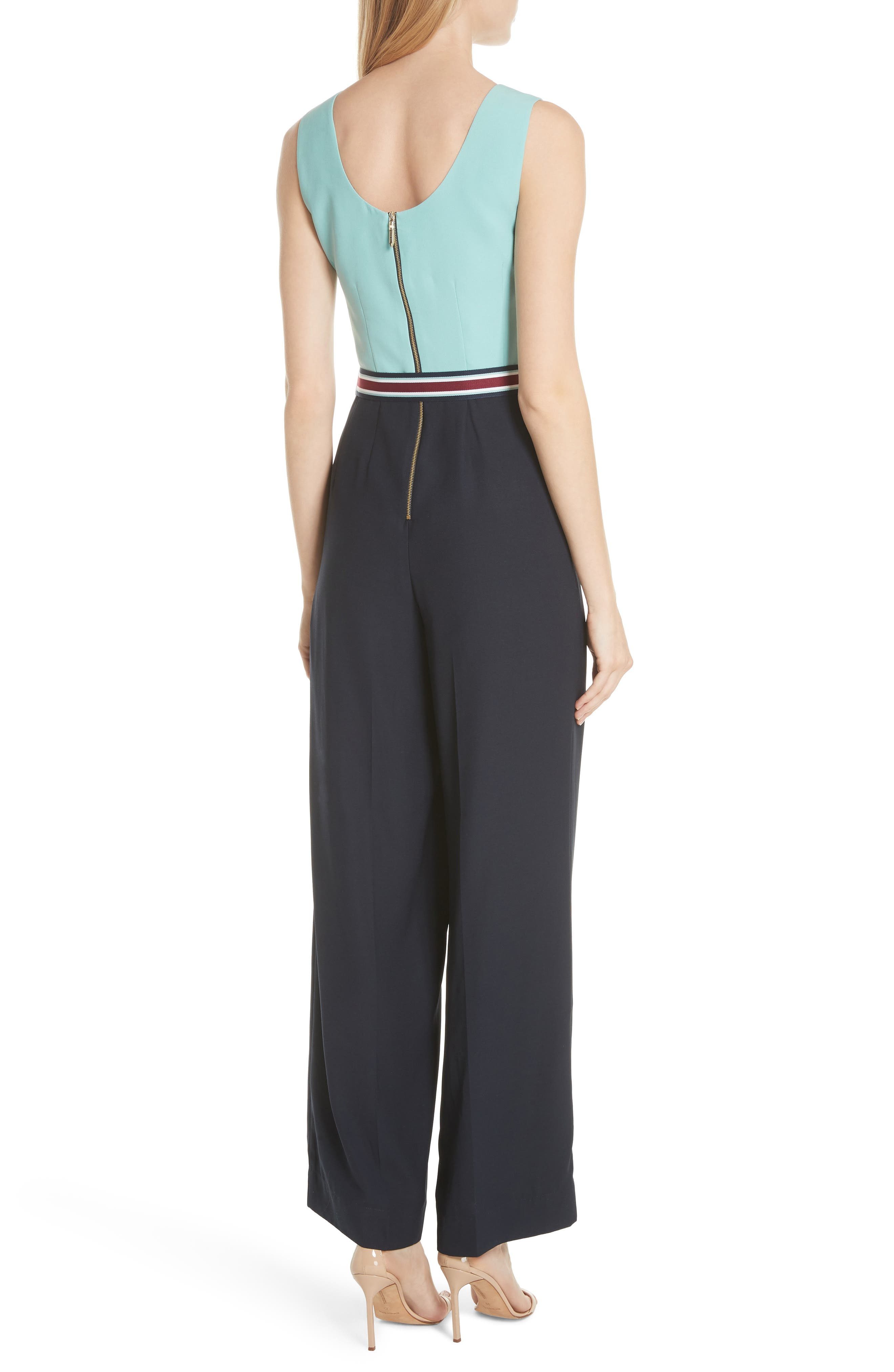 Alternate Image 2  - Ted Baker London Colour by Numbers Colorblock Jumpsuit