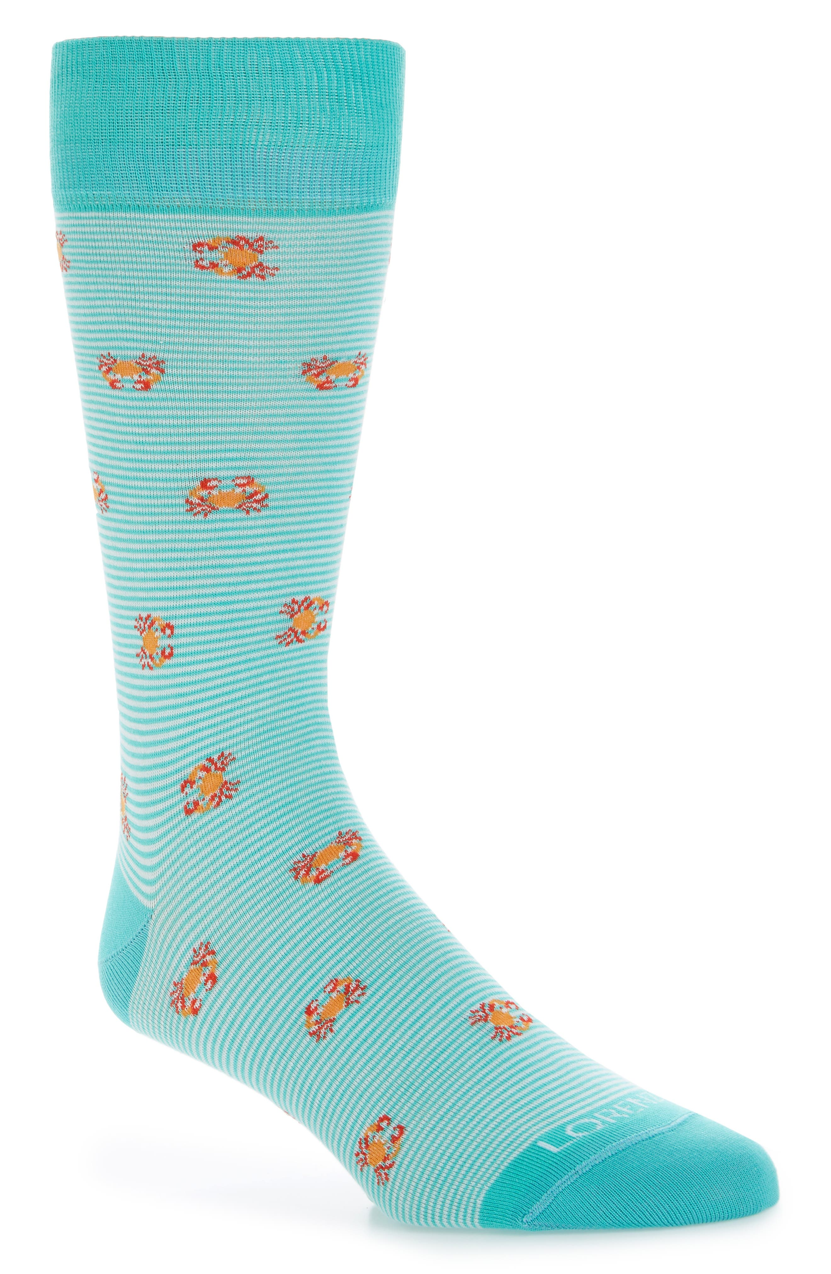 Crabs Crew Socks,                         Main,                         color, Teal