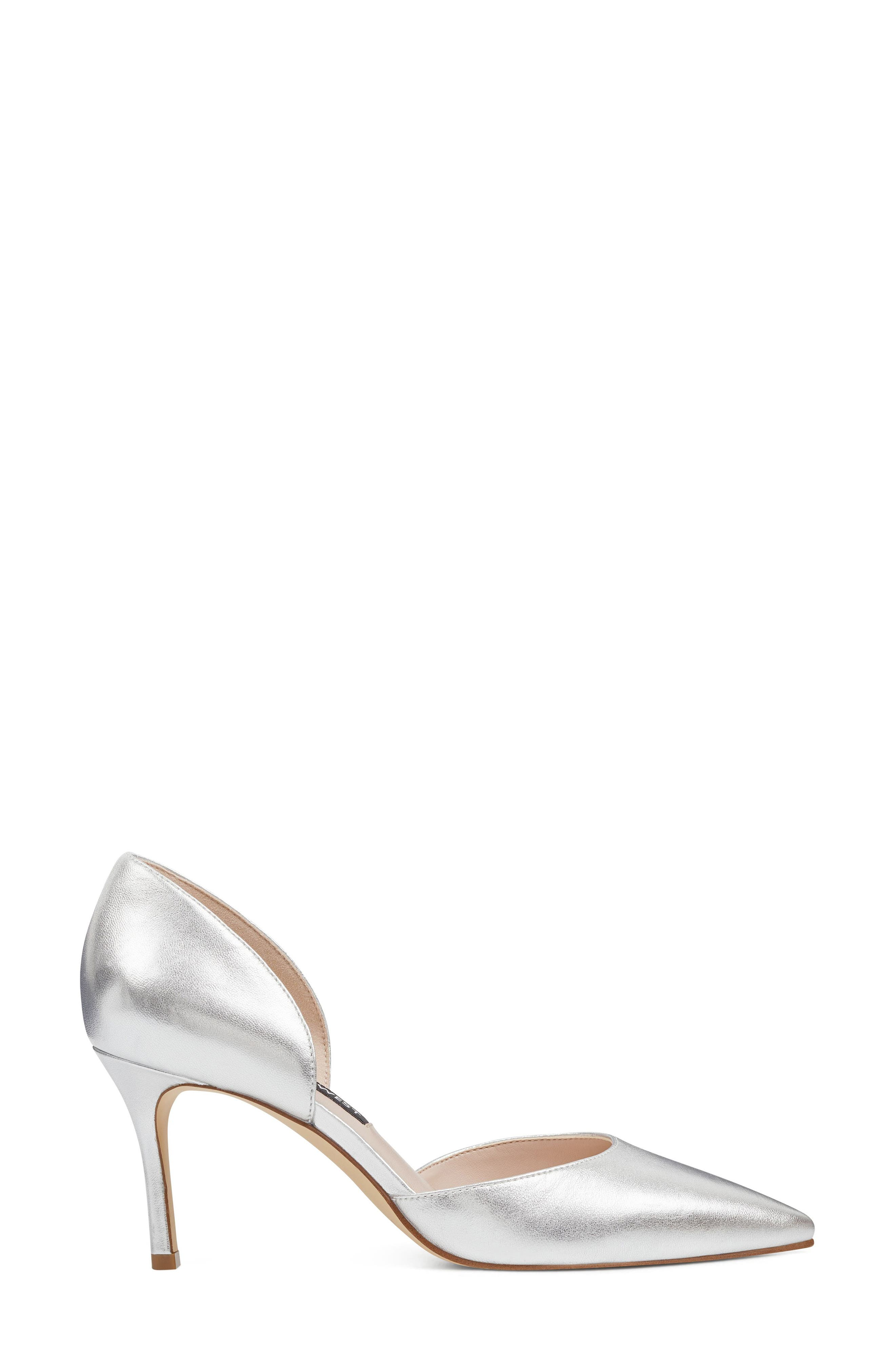 Mossiel Open Sided Pump,                             Alternate thumbnail 3, color,                             Silver