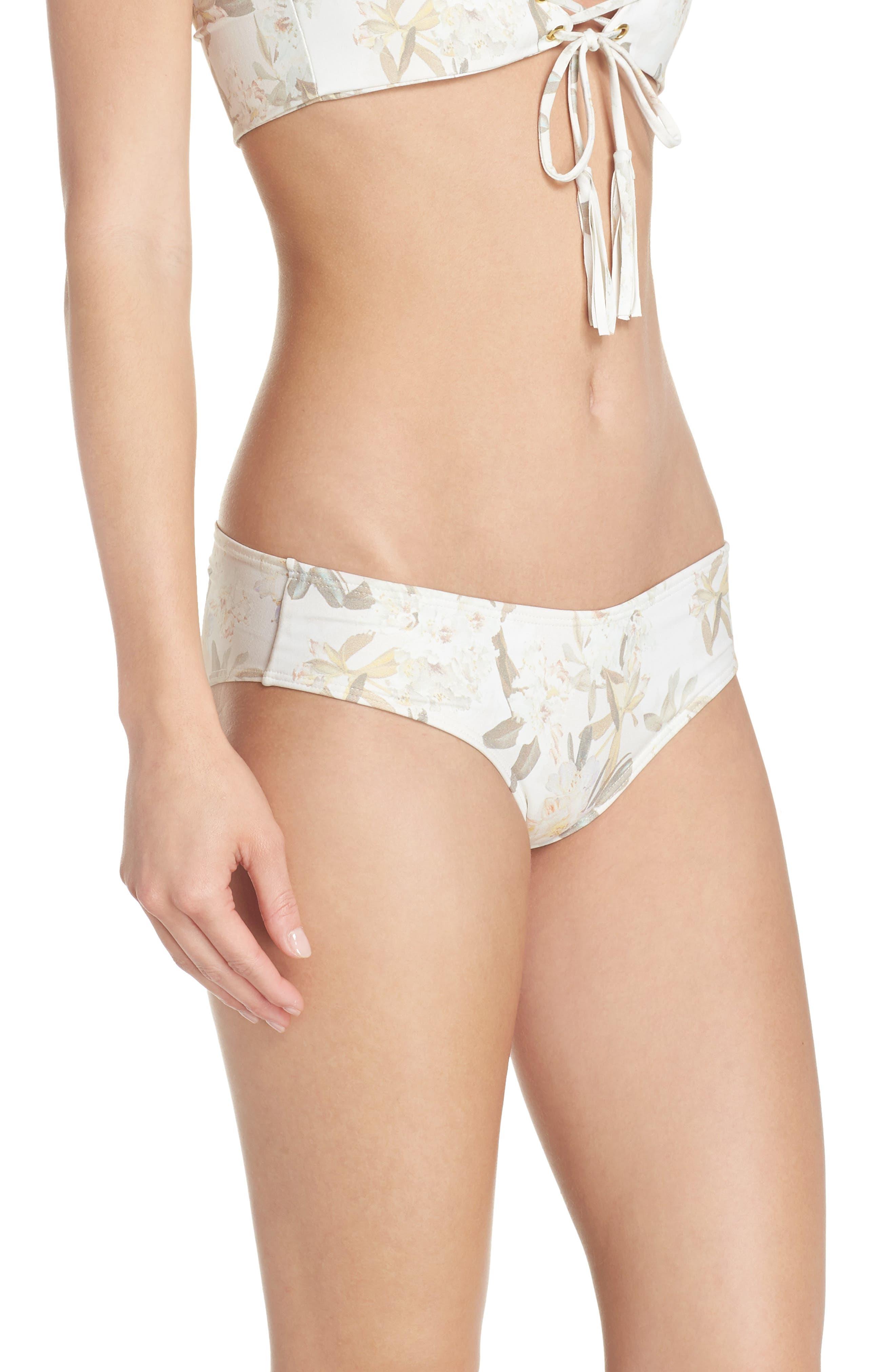 AC Nu Micro Bikini Bottoms,                             Alternate thumbnail 3, color,                             Ete Floral White