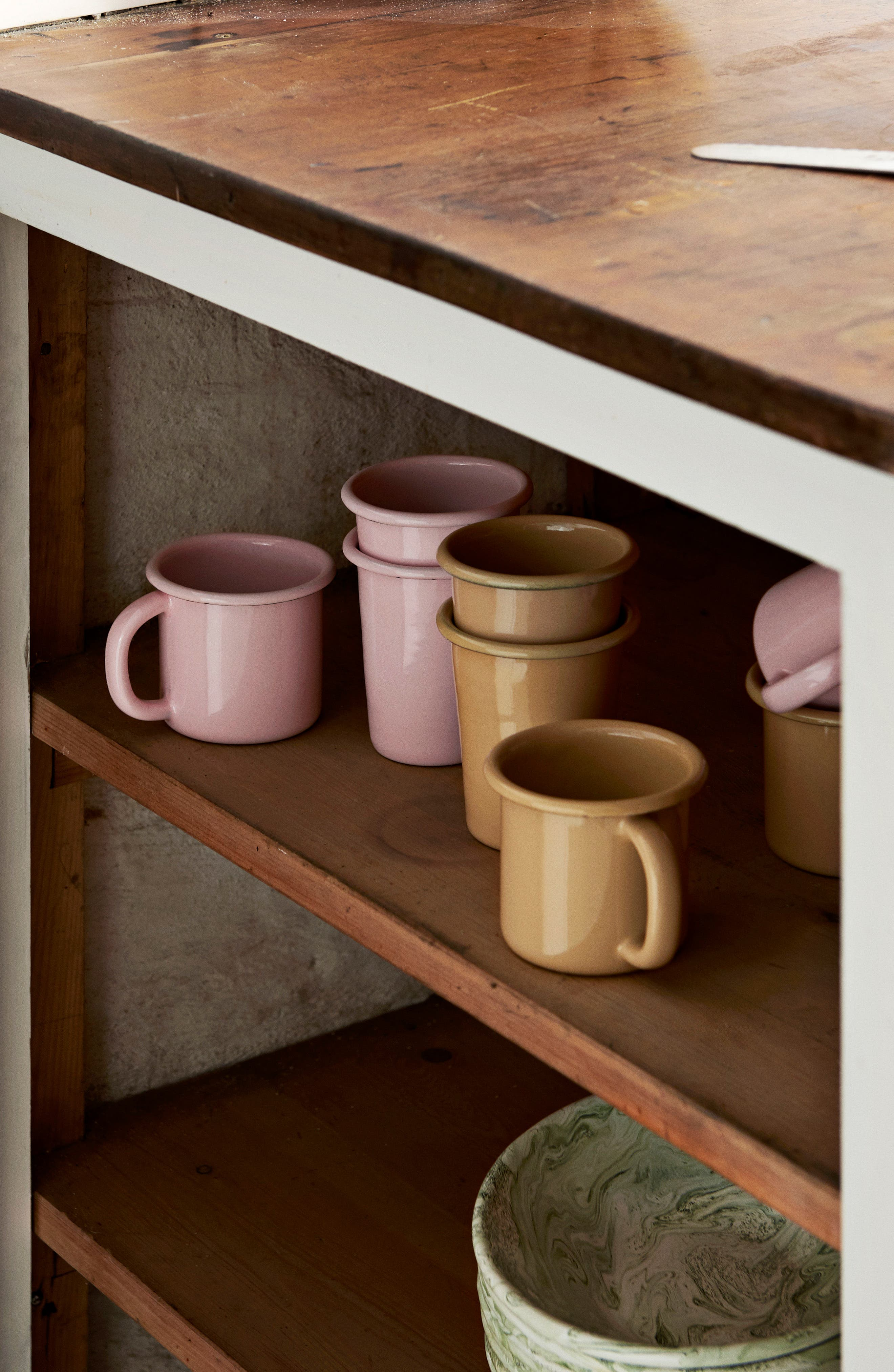 Enamel Mug,                             Alternate thumbnail 2, color,                             Soft Pink