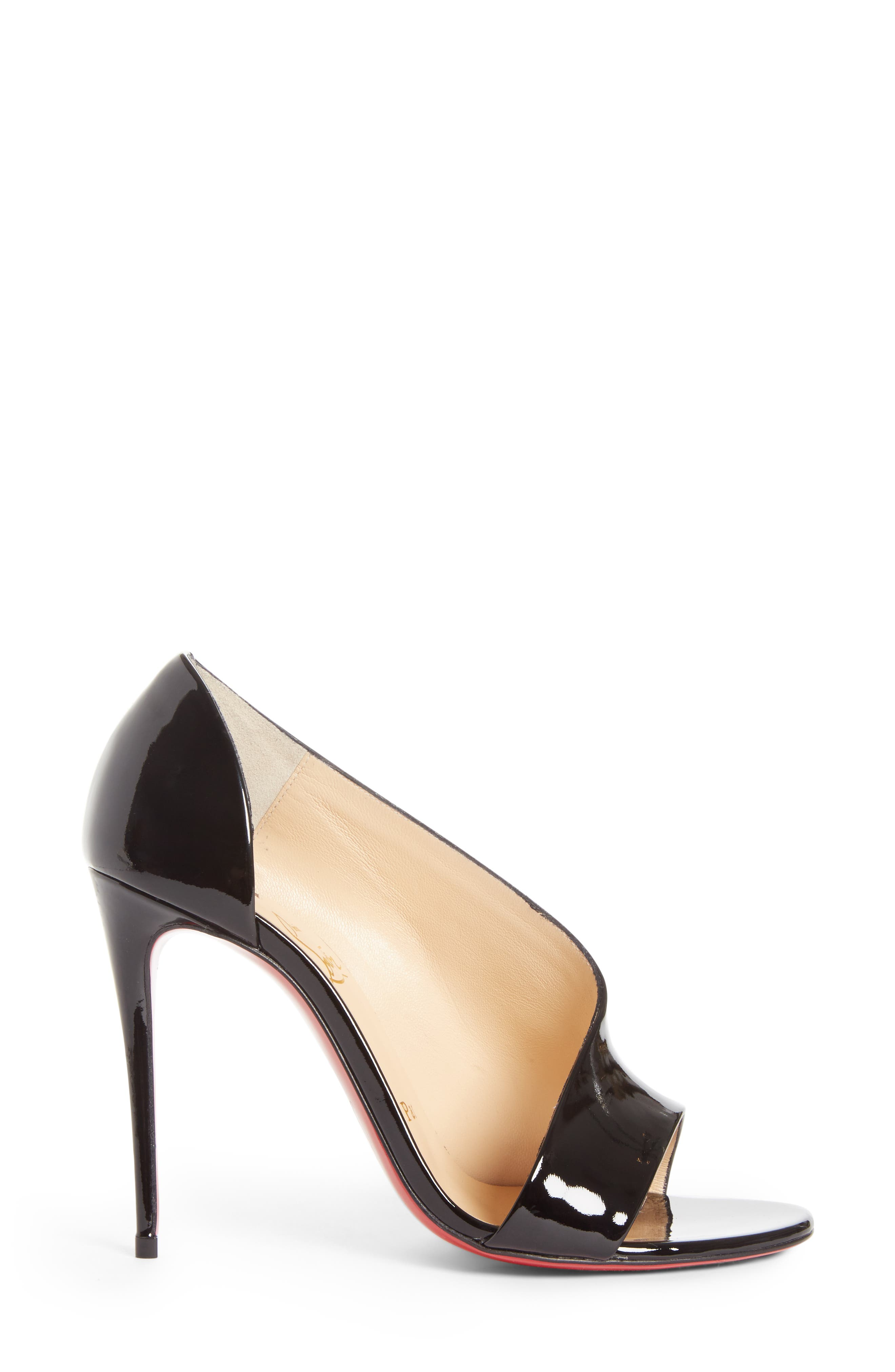 Phoebe Half d'Orsay Sandal,                             Alternate thumbnail 3, color,                             Black Patent