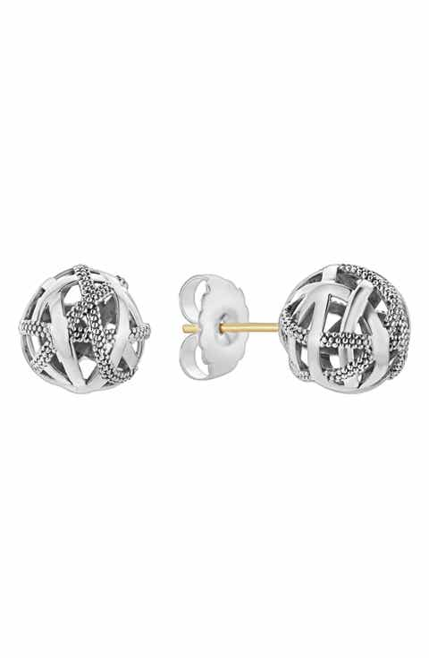 LAGOS Signature Gifts Sterling Silver Woven Knot Stud Earrings