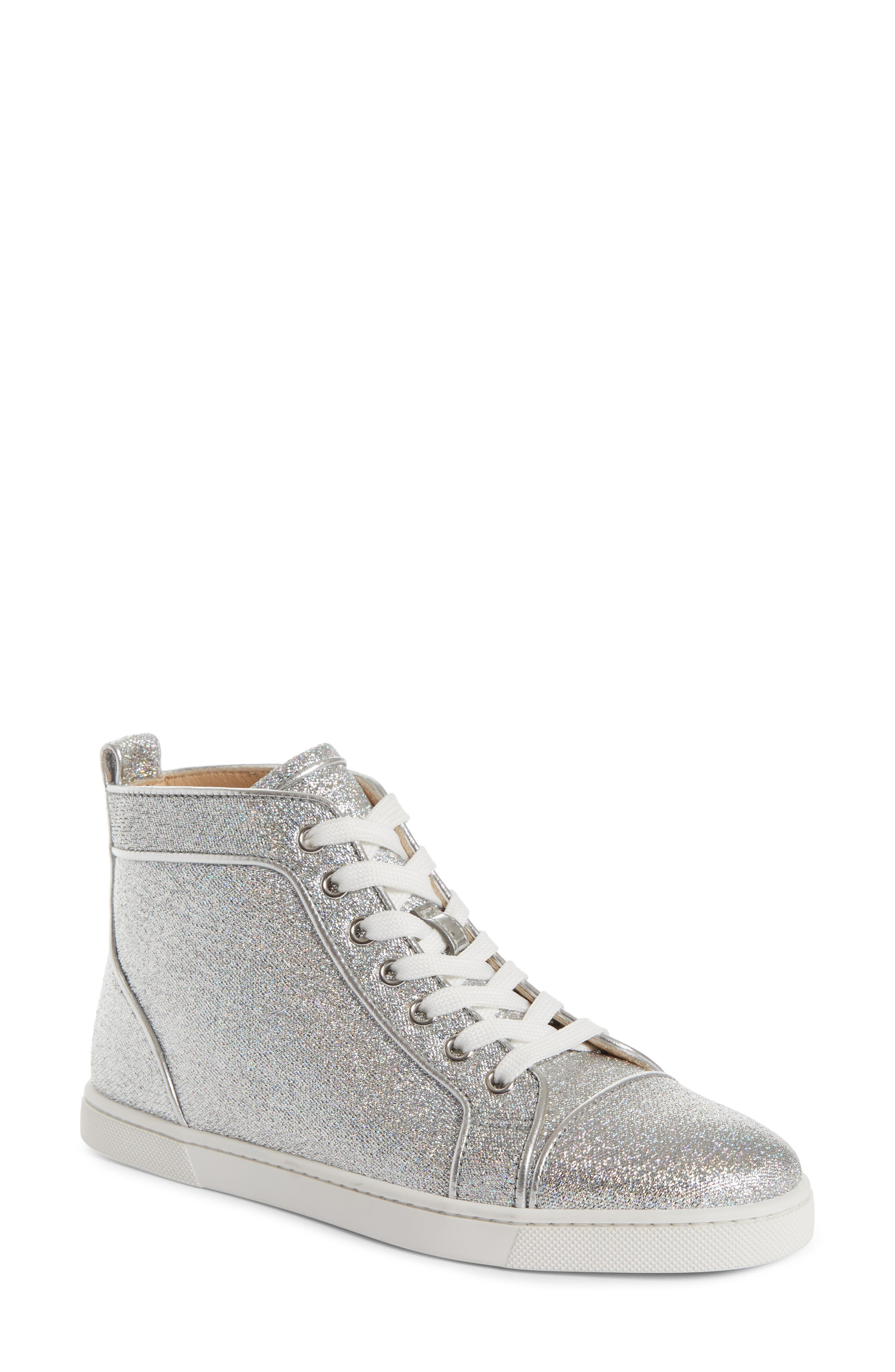 Orlato Metallic High Top Sneaker,                             Main thumbnail 1, color,                             Silver