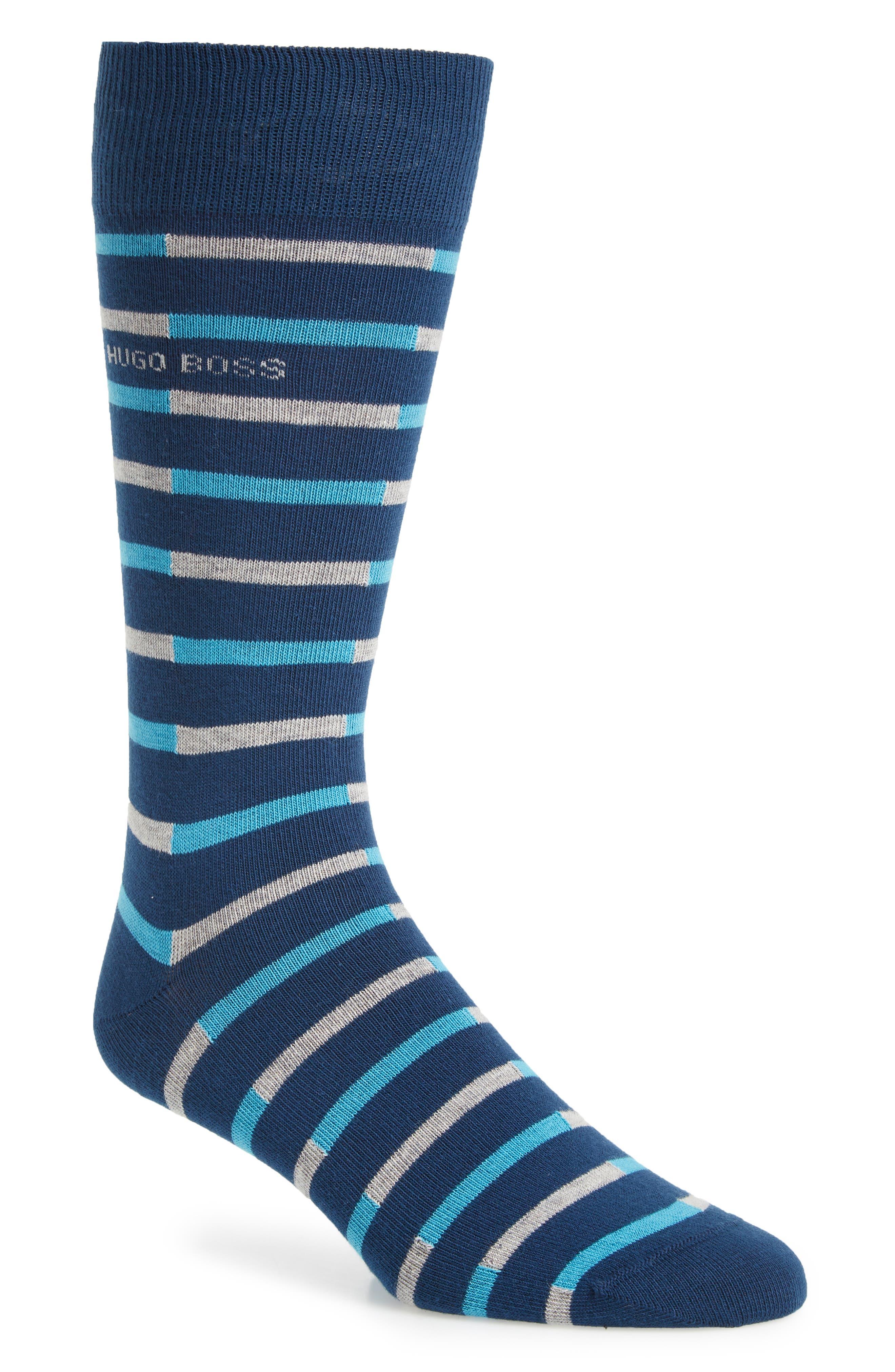 Stripe Socks,                             Main thumbnail 1, color,                             Blue