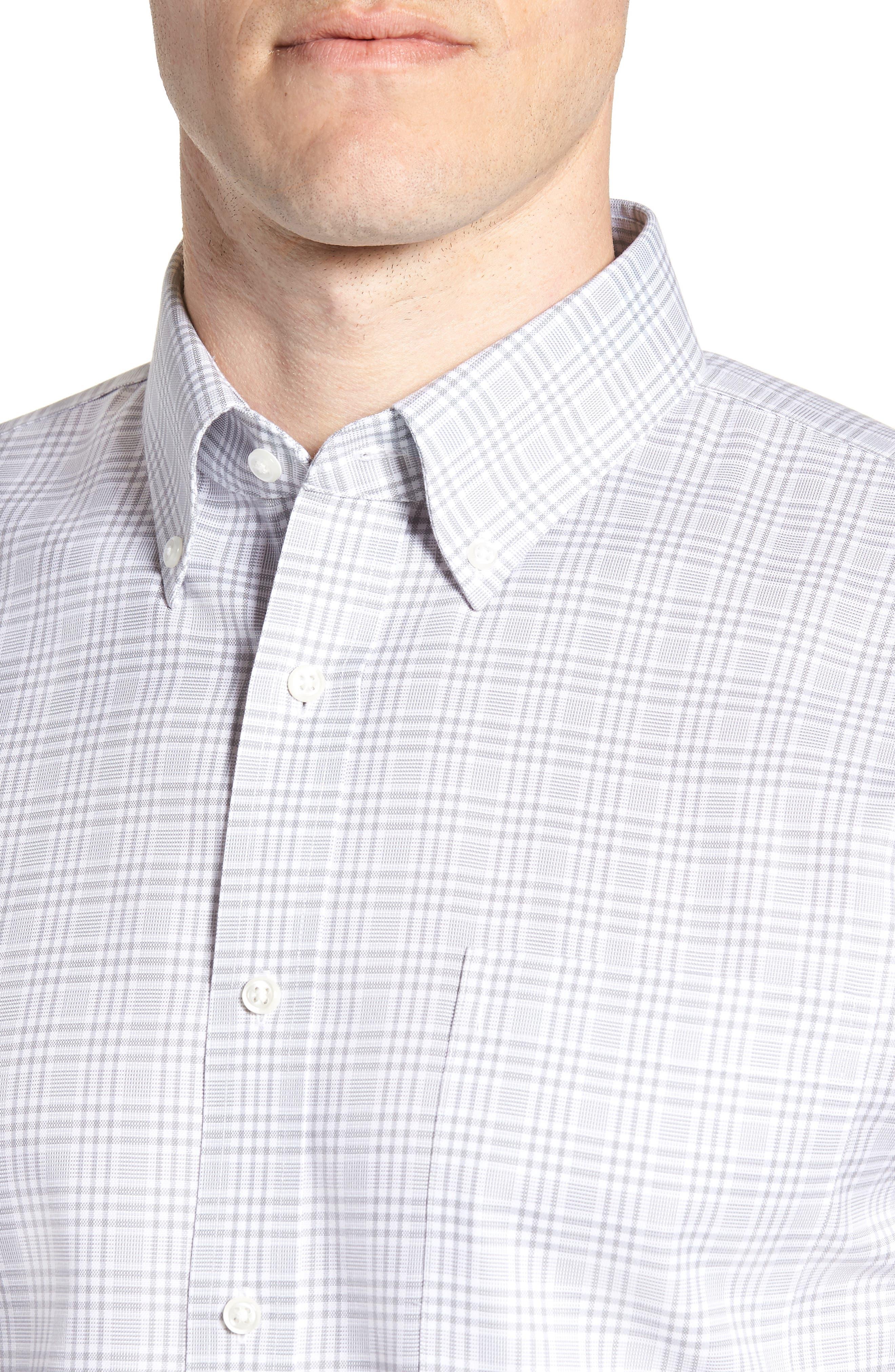 Smartcare<sup>™</sup> Traditional Fit Plaid Dress Shirt,                             Alternate thumbnail 2, color,                             Grey Sleet