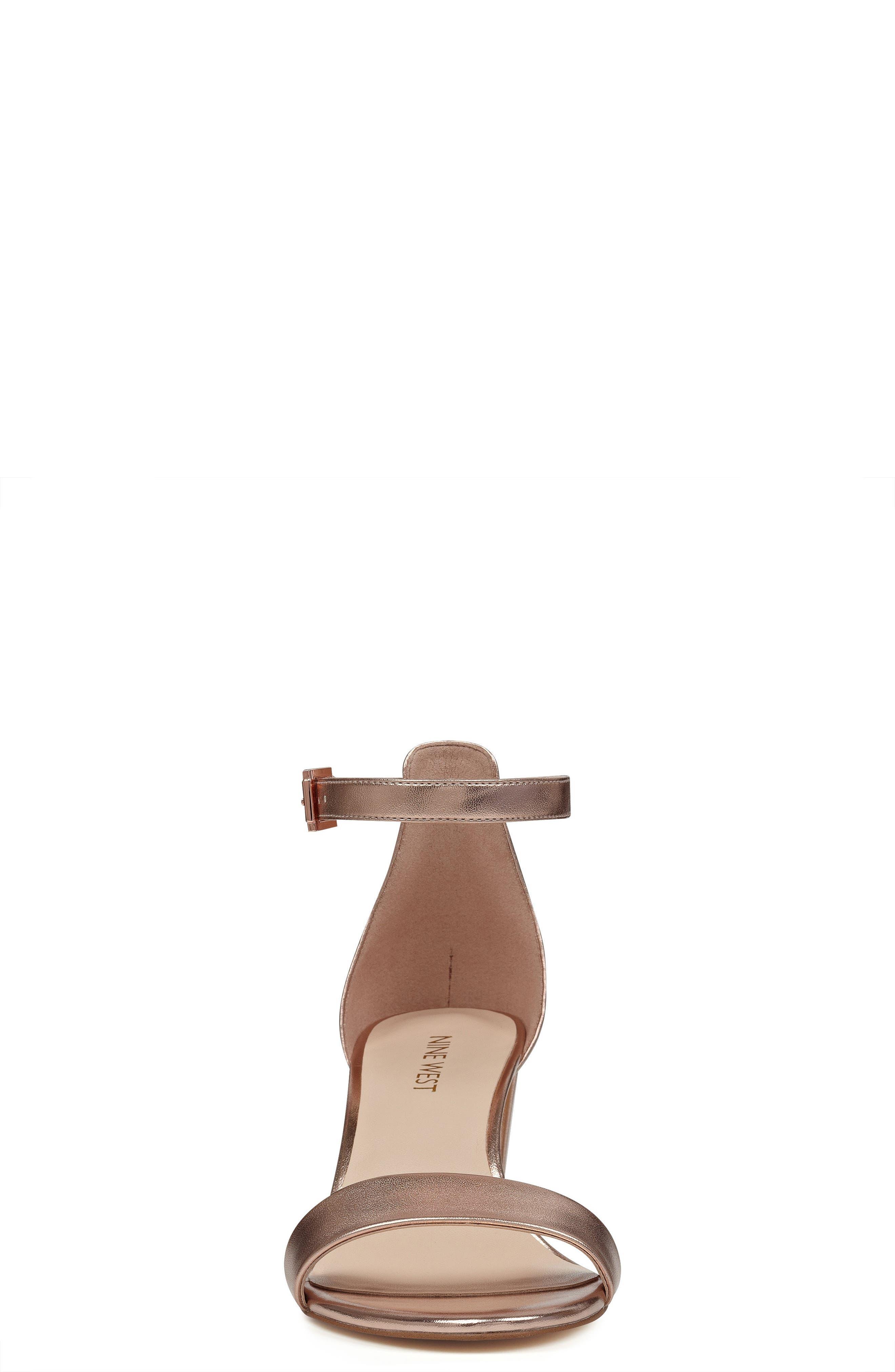 Pruce Ankle Strap Sandal,                             Alternate thumbnail 4, color,                             Matte Rose Gold