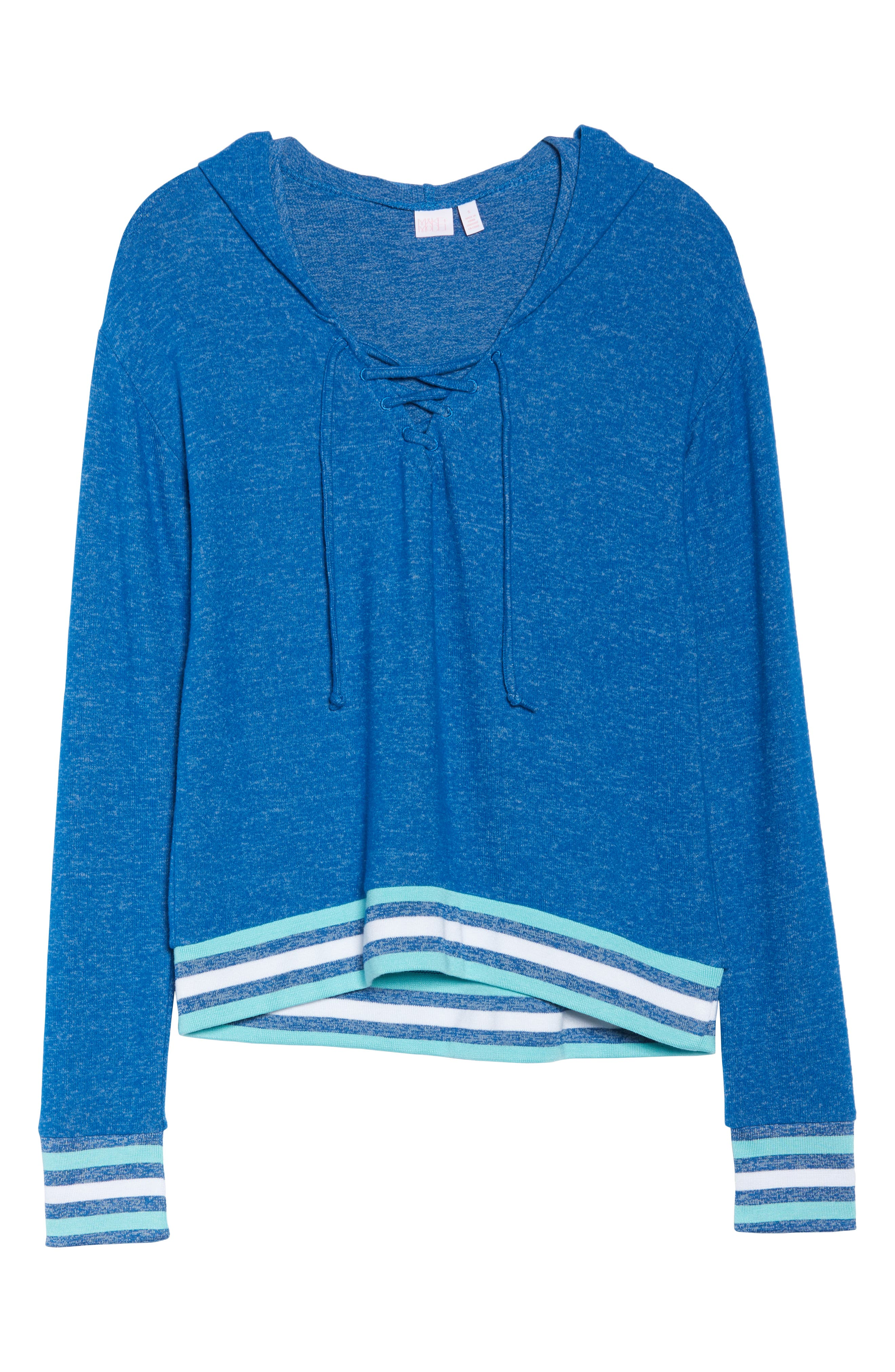 Brushed Hacci Hoodie,                             Alternate thumbnail 5, color,                             Blue Classics