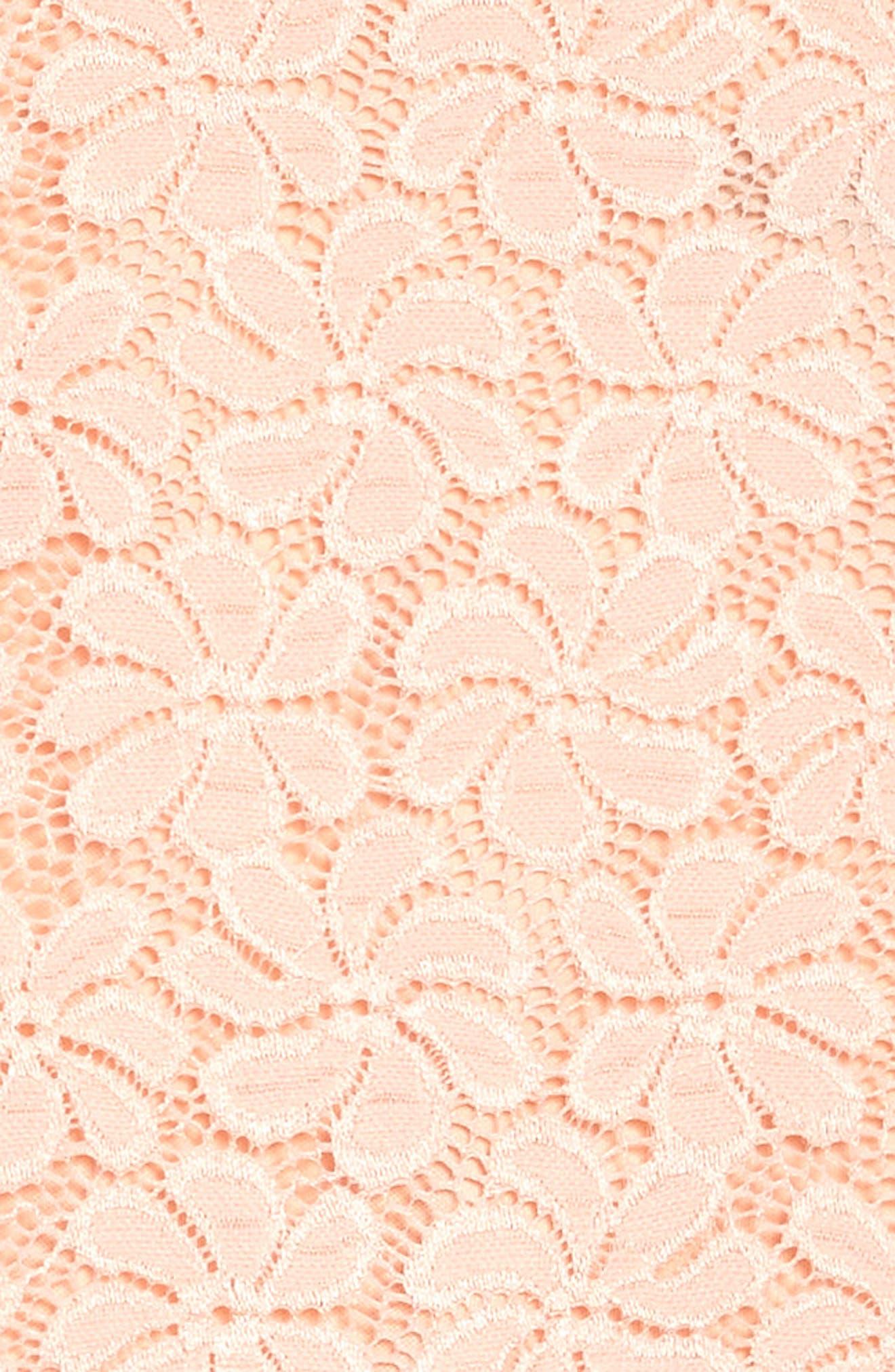 Nancy Lace Dress,                             Alternate thumbnail 3, color,                             Peach