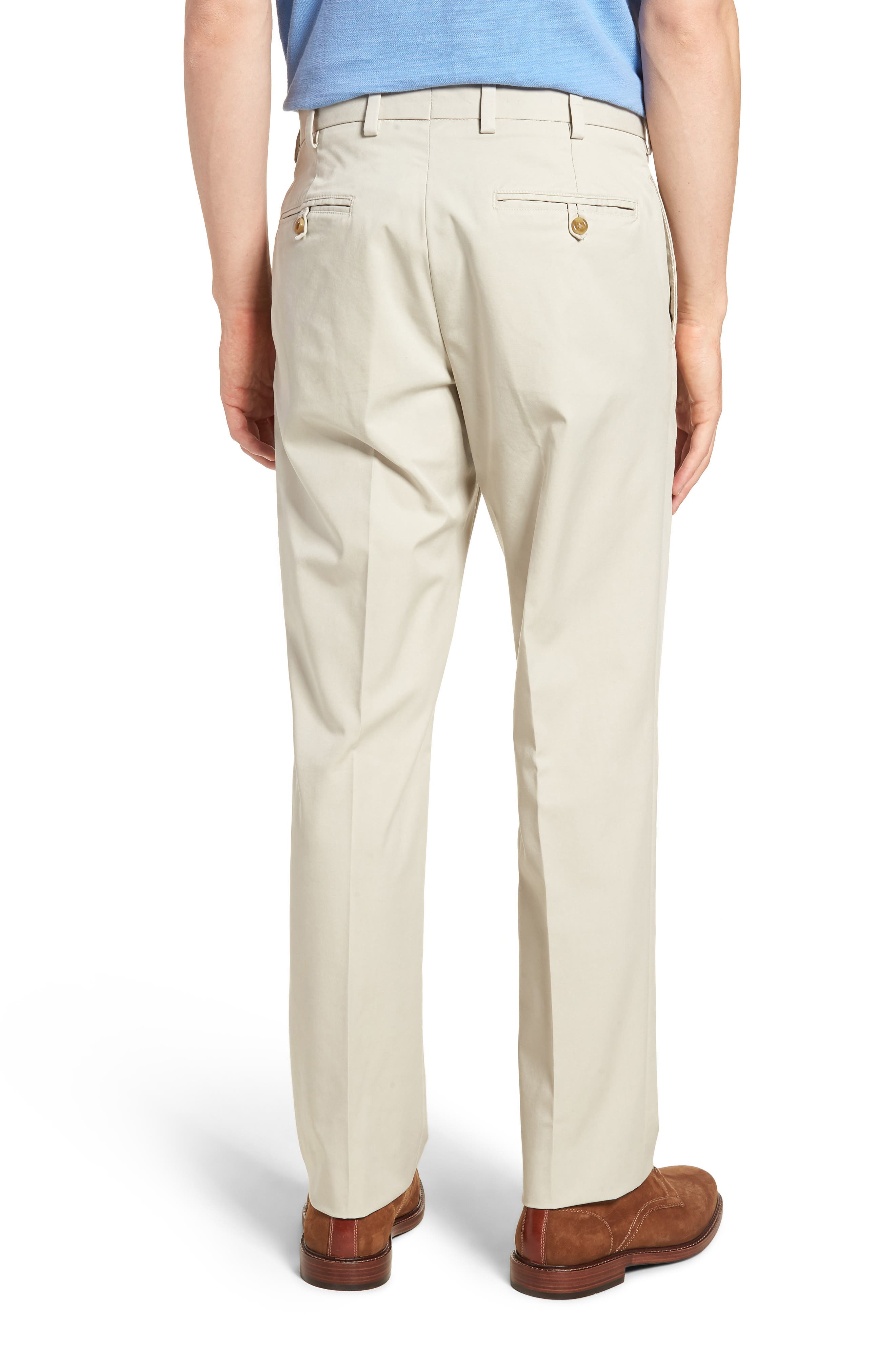 M2 Classic Fit Flat Front Travel Twill Pants,                             Alternate thumbnail 2, color,                             Cement