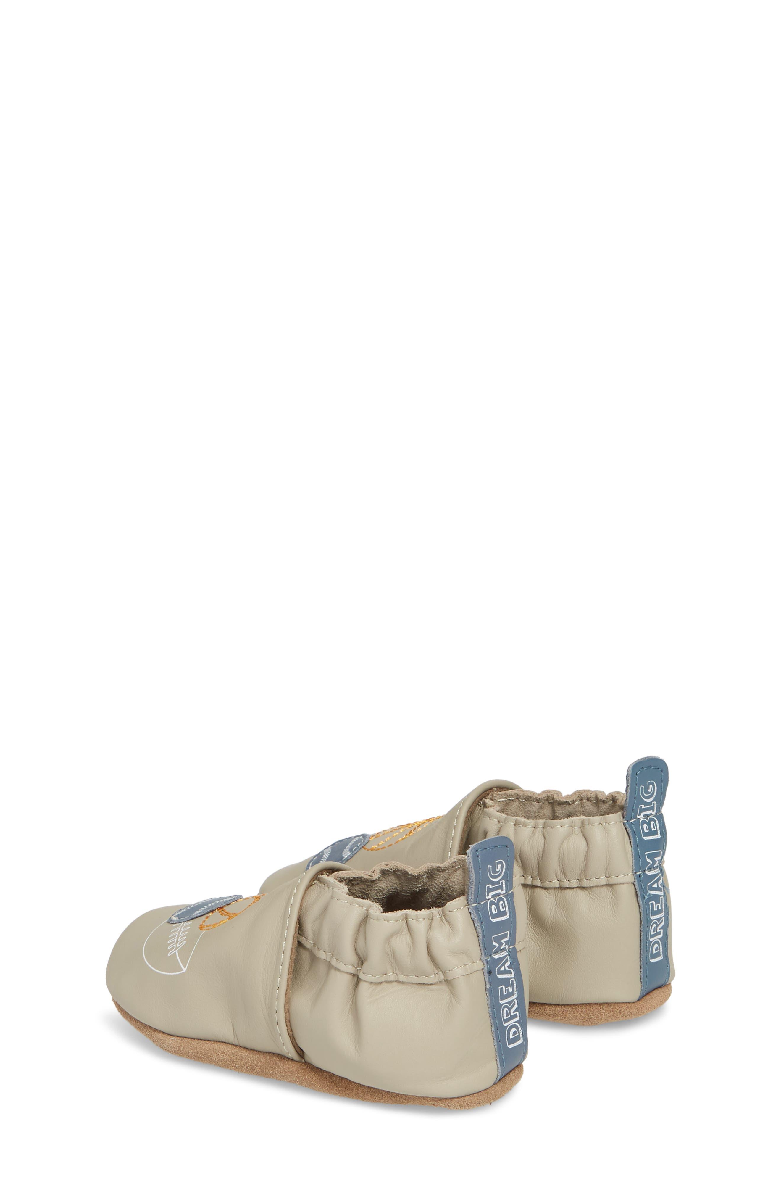 Dream Big Moccasin Crib Shoe,                             Alternate thumbnail 2, color,                             Taupe