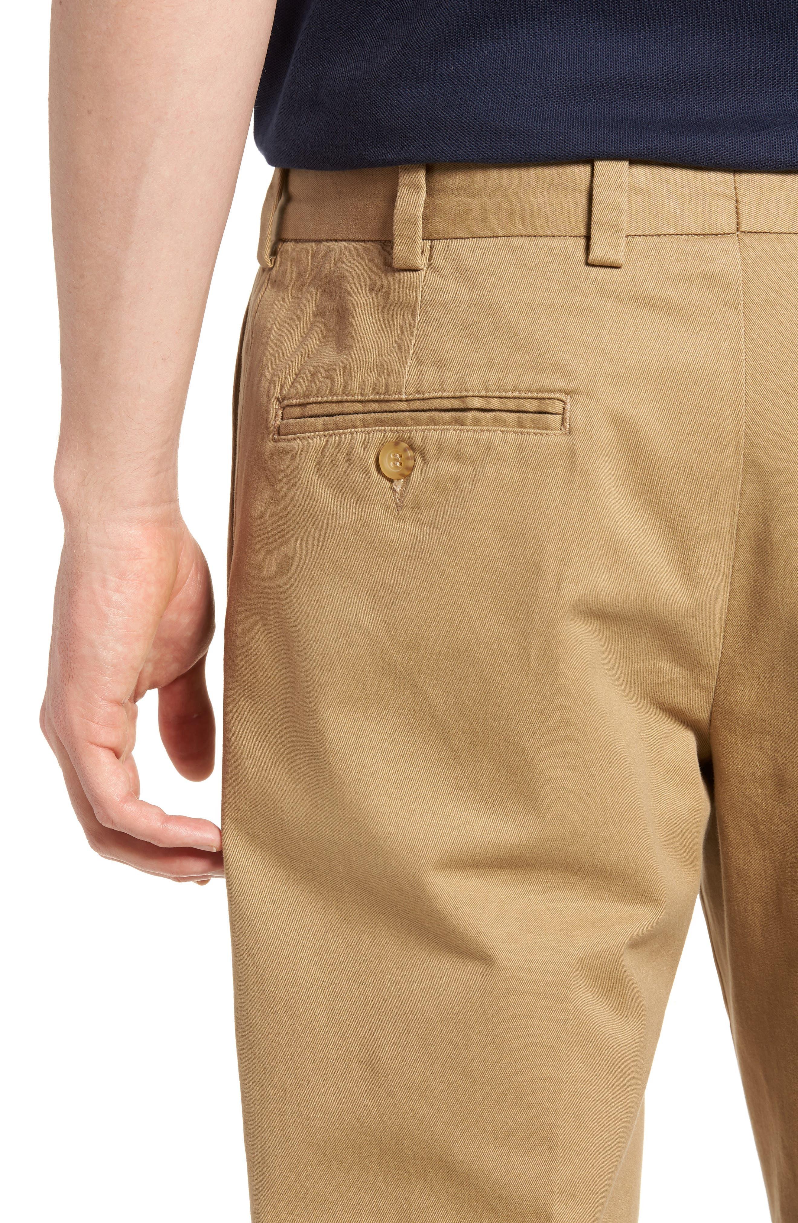 M3 Straight Fit Vintage Twill Flat Front Pants,                             Alternate thumbnail 4, color,                             British Khaki