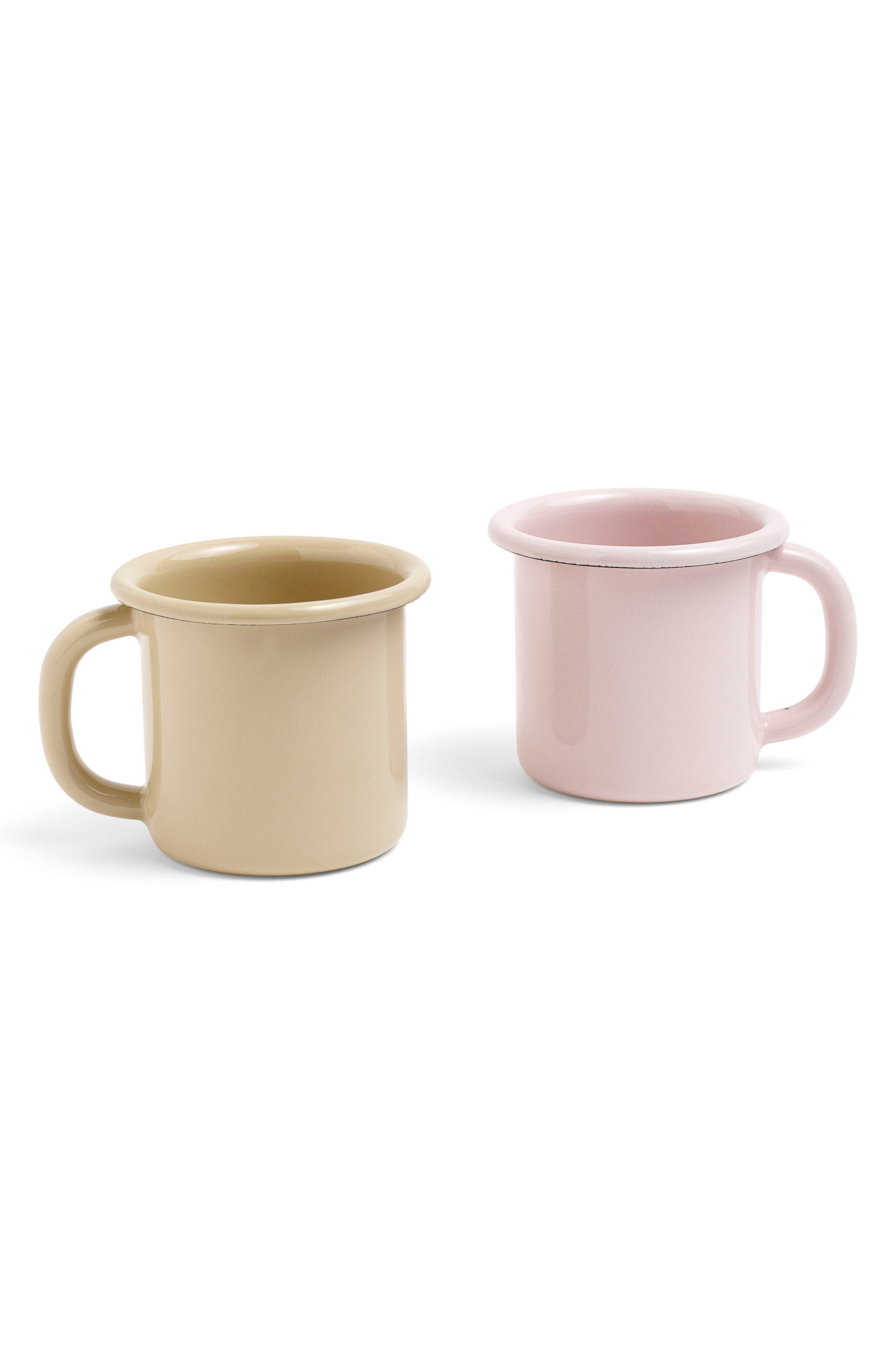 Enamel Mug,                             Alternate thumbnail 4, color,                             Soft Pink