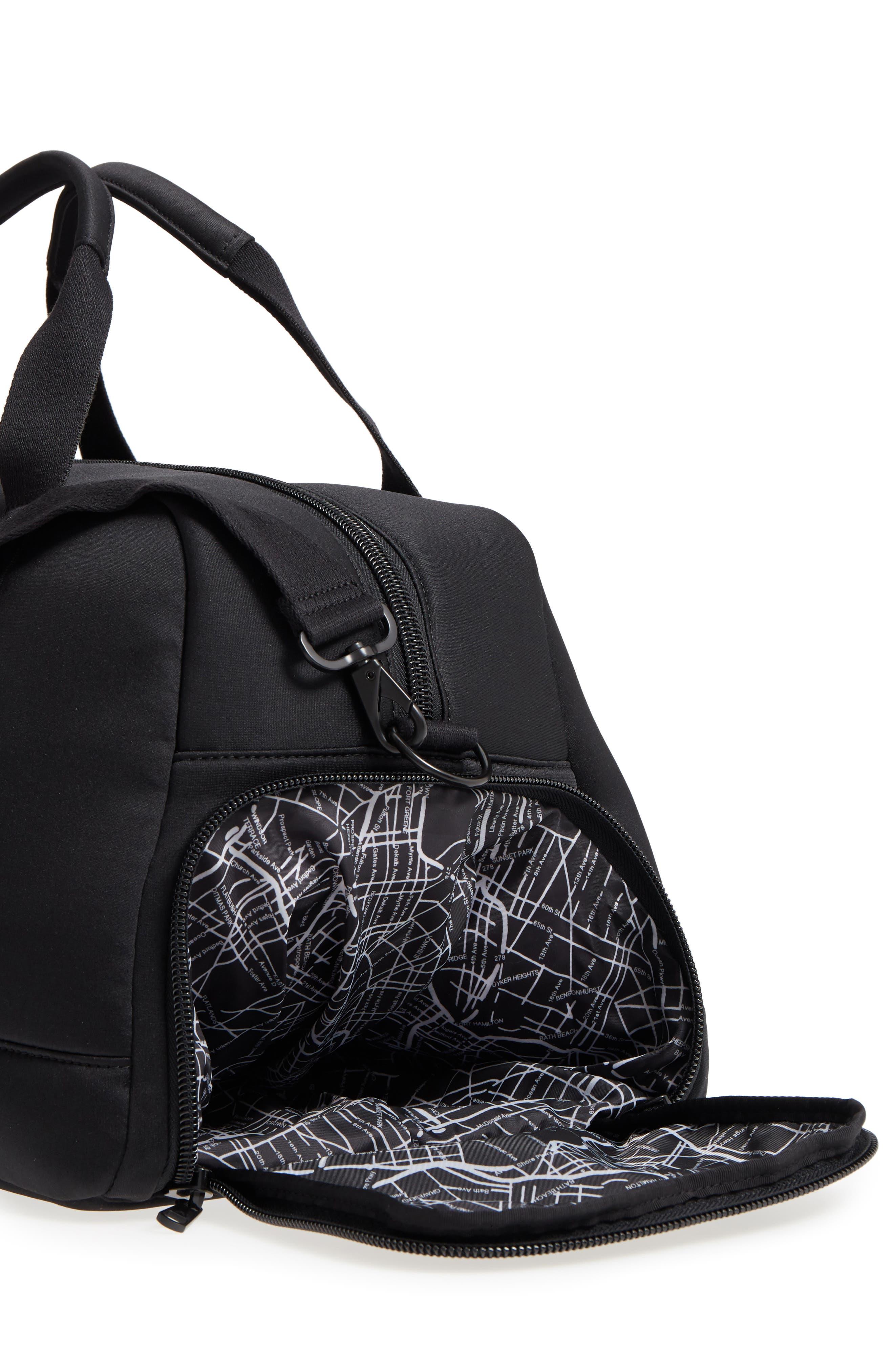 Franklin Neoprene Duffel Bag,                             Alternate thumbnail 4, color,                             Black