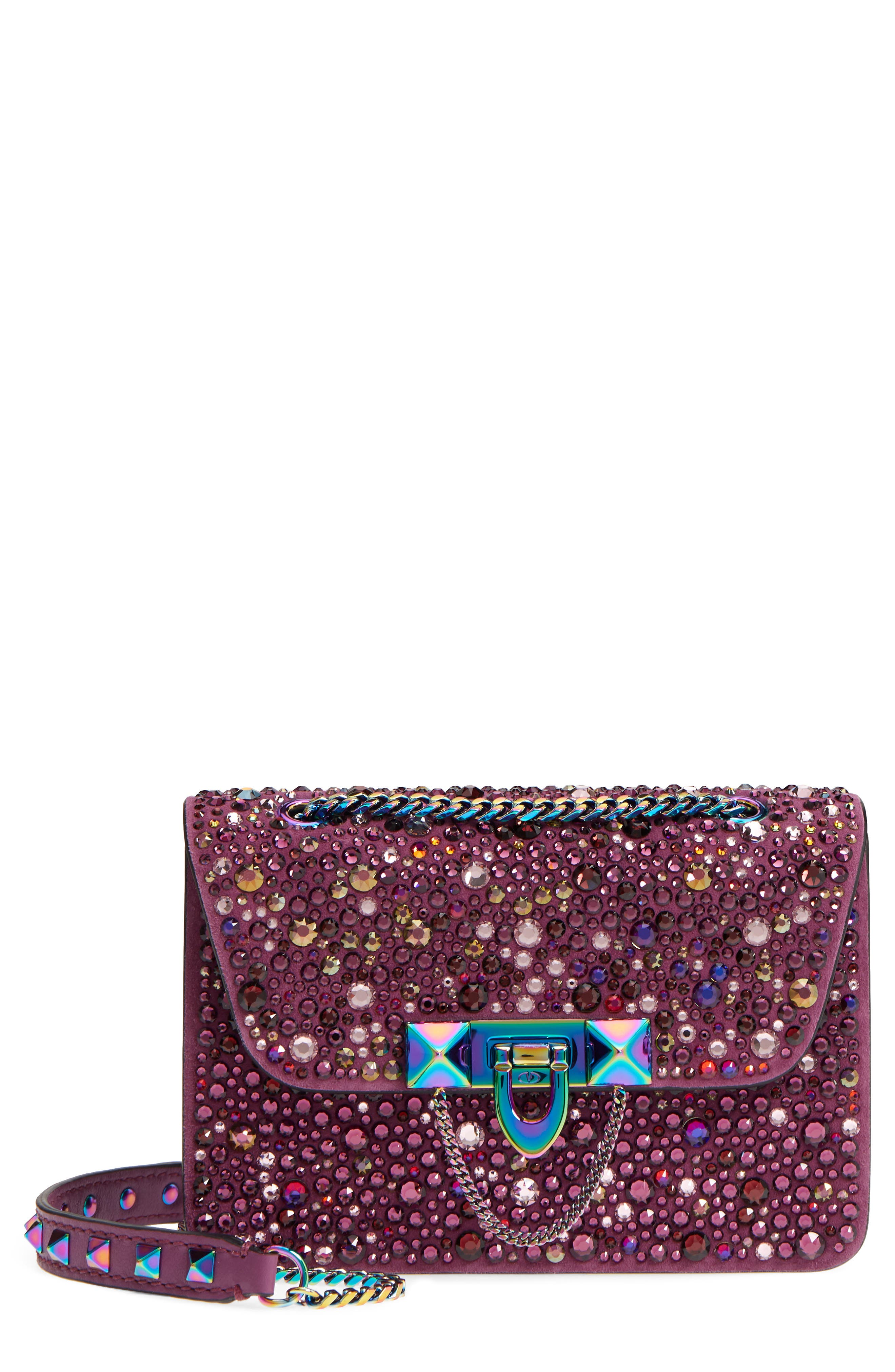 VALENTINO GARAVANI Crystal Embellished Mini Shoulder Bag