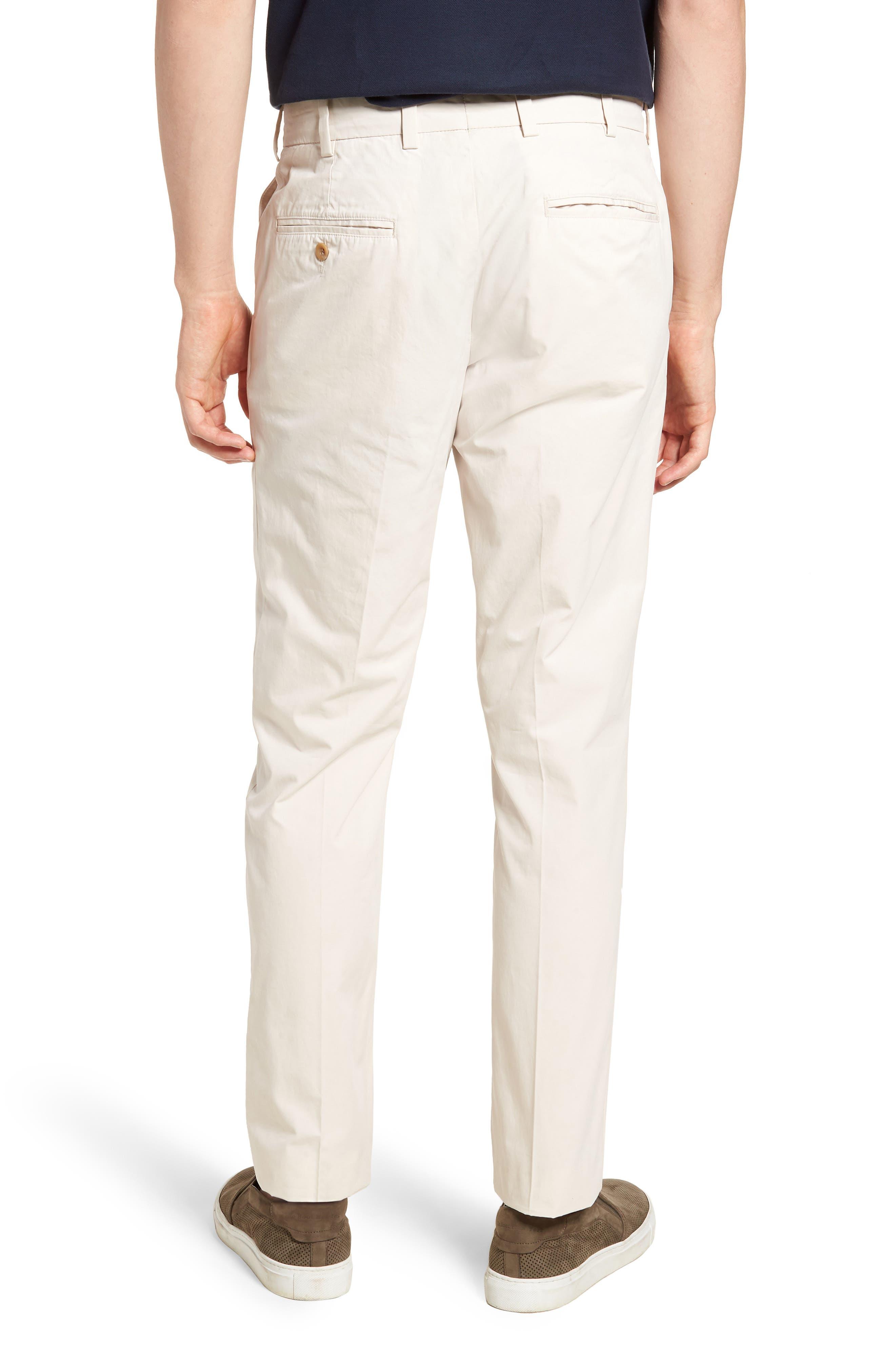 M3 Straight Fit Flat Front Tropical Poplin Pants,                             Alternate thumbnail 2, color,                             Sand