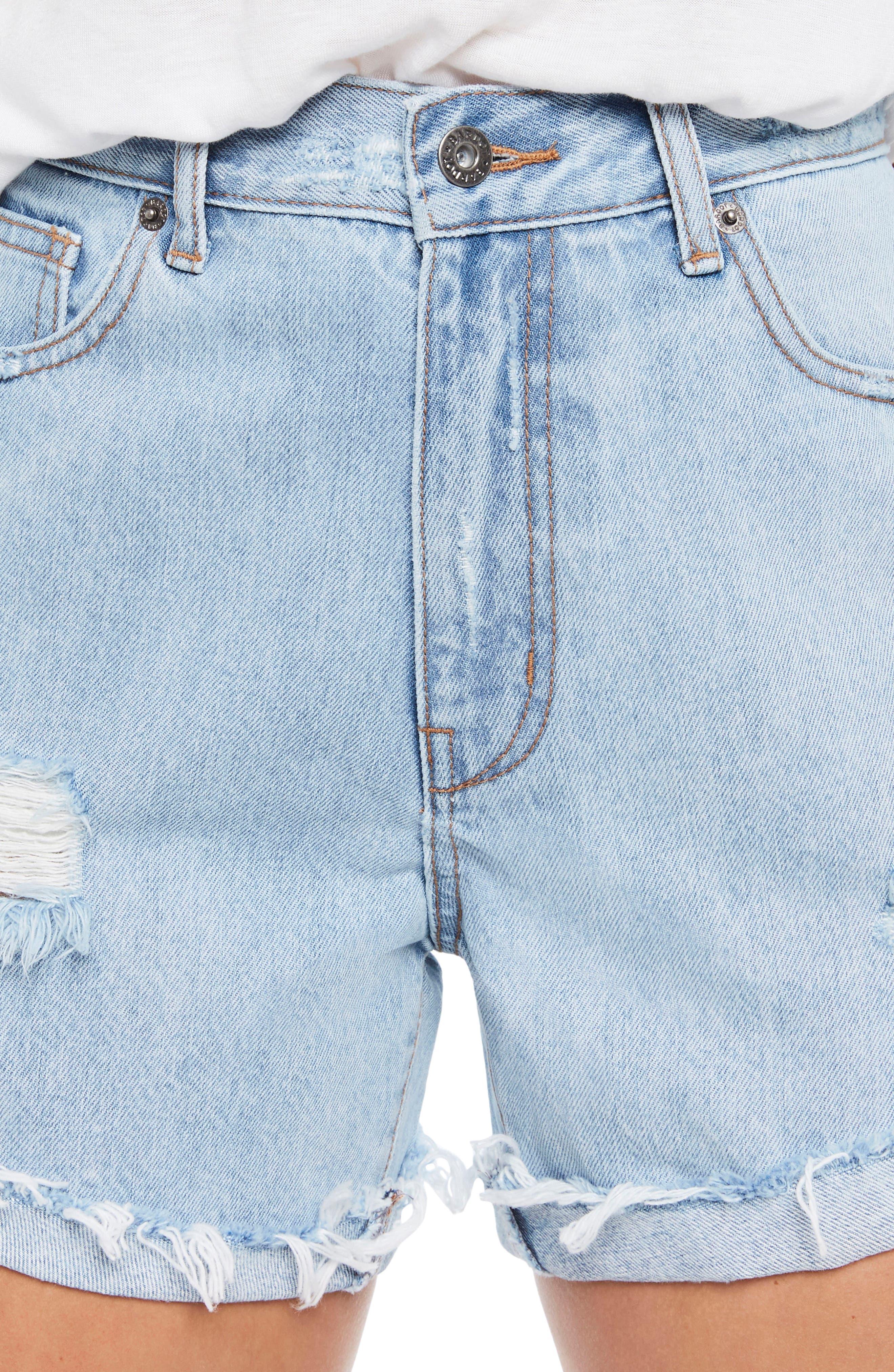 Tyra Denim Shorts,                             Alternate thumbnail 4, color,                             Vintage
