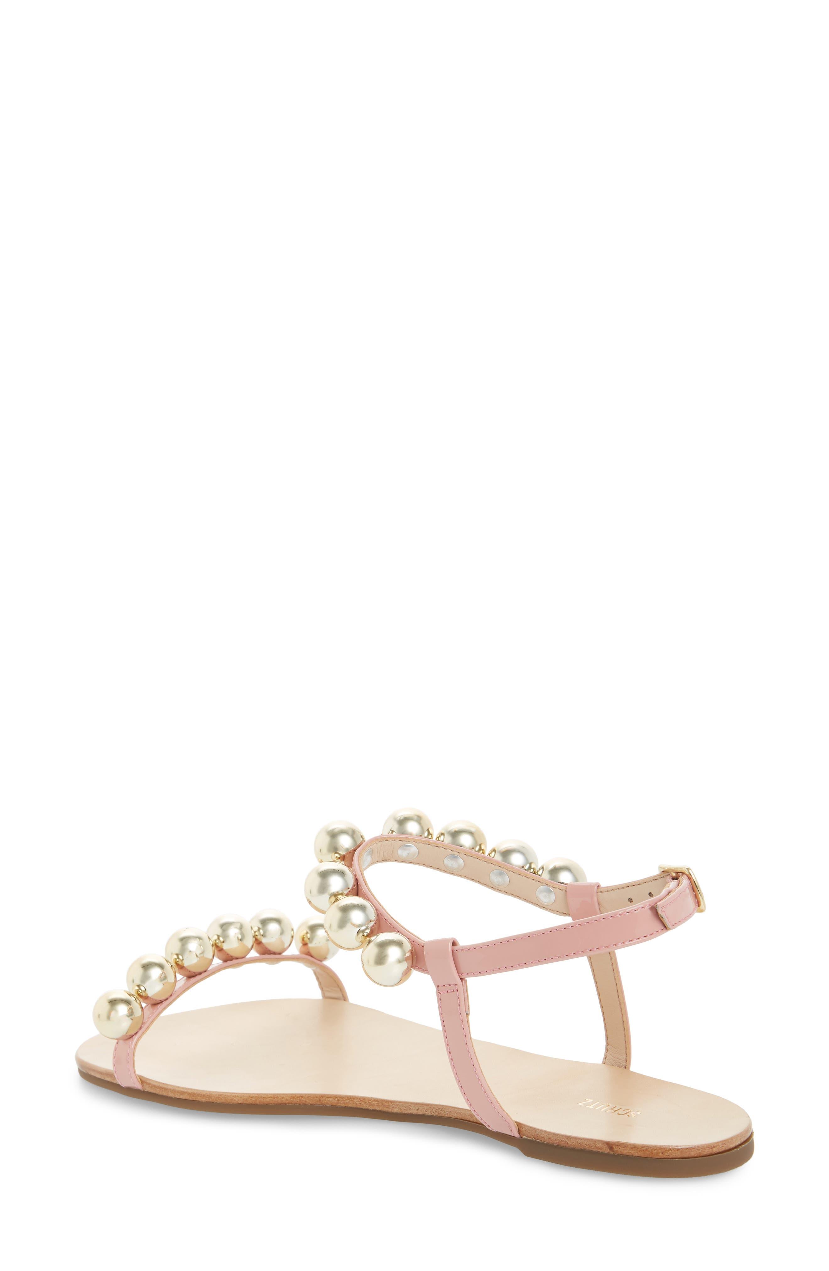 Hebe Ankle Strap Sandal,                             Alternate thumbnail 2, color,                             Poppy Rose Leather