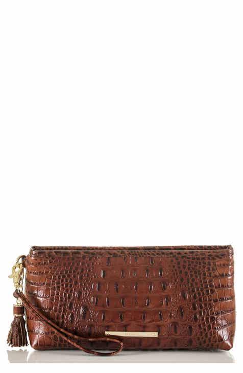 b7f8bf862a Brahmin Kayla Embossed Leather Clutch