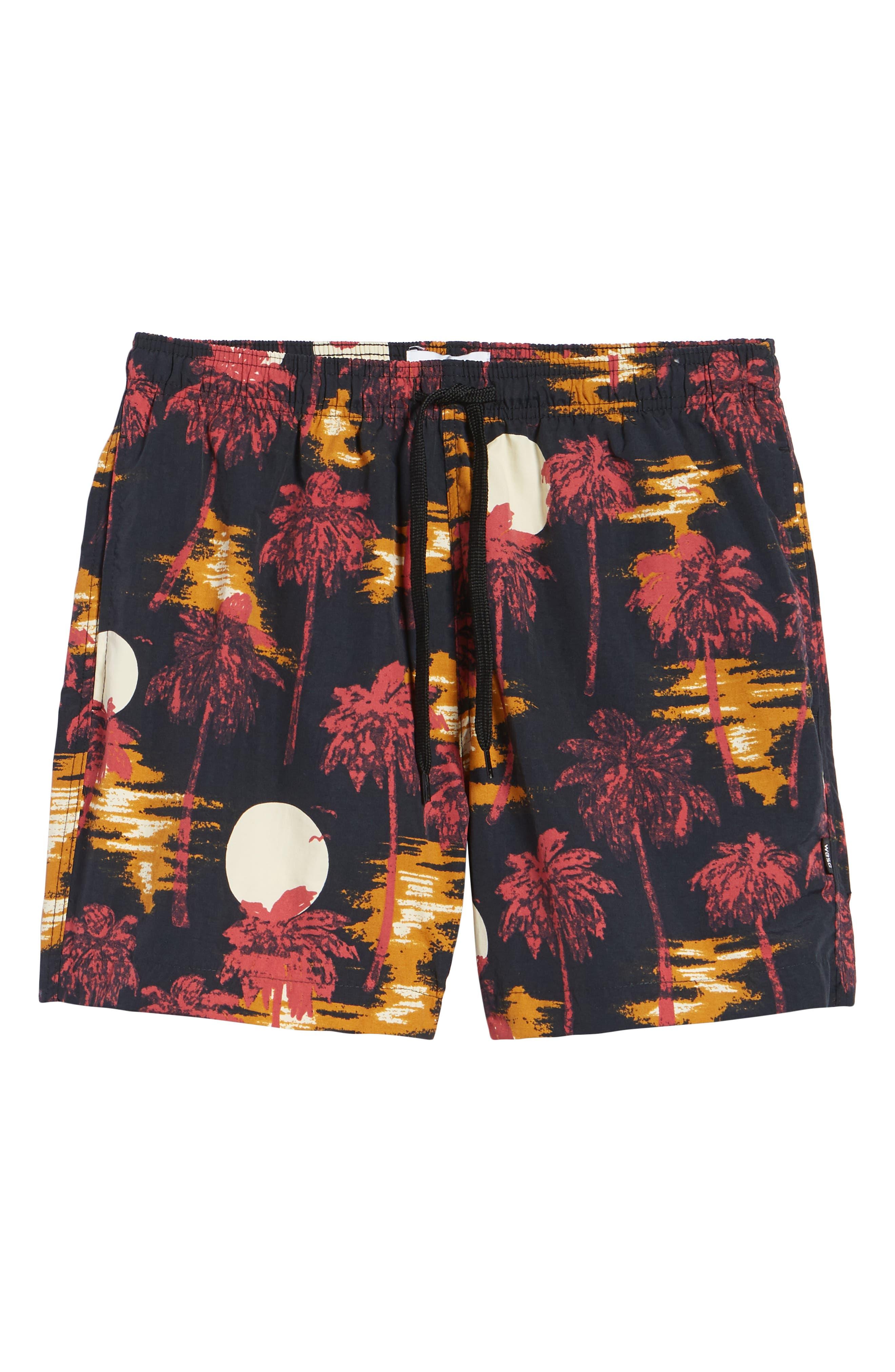 Zack Hawaii Swim Trunks,                             Alternate thumbnail 6, color,                             Hawaii Night