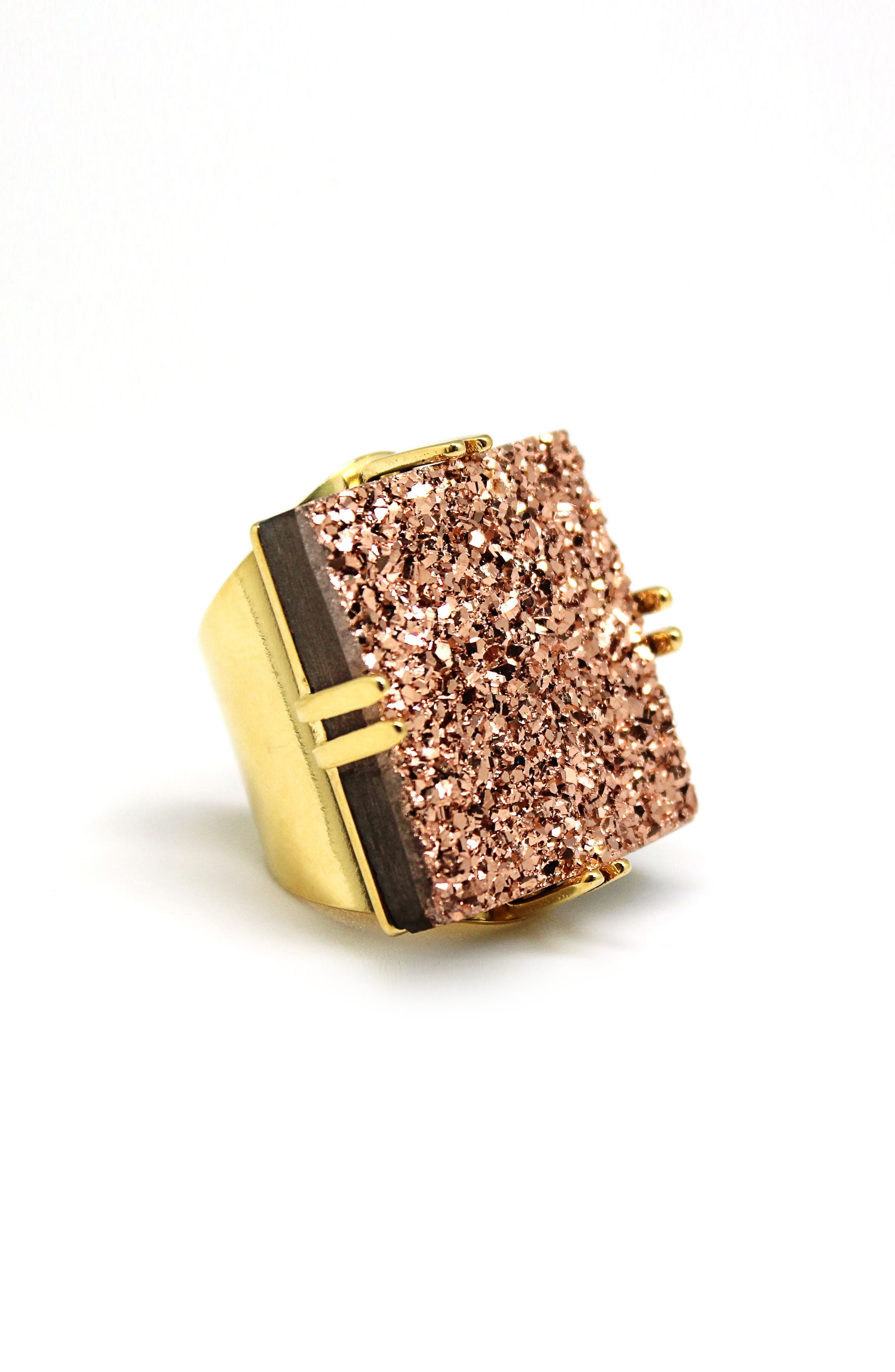 Drusy Ring,                         Main,                         color, Gold