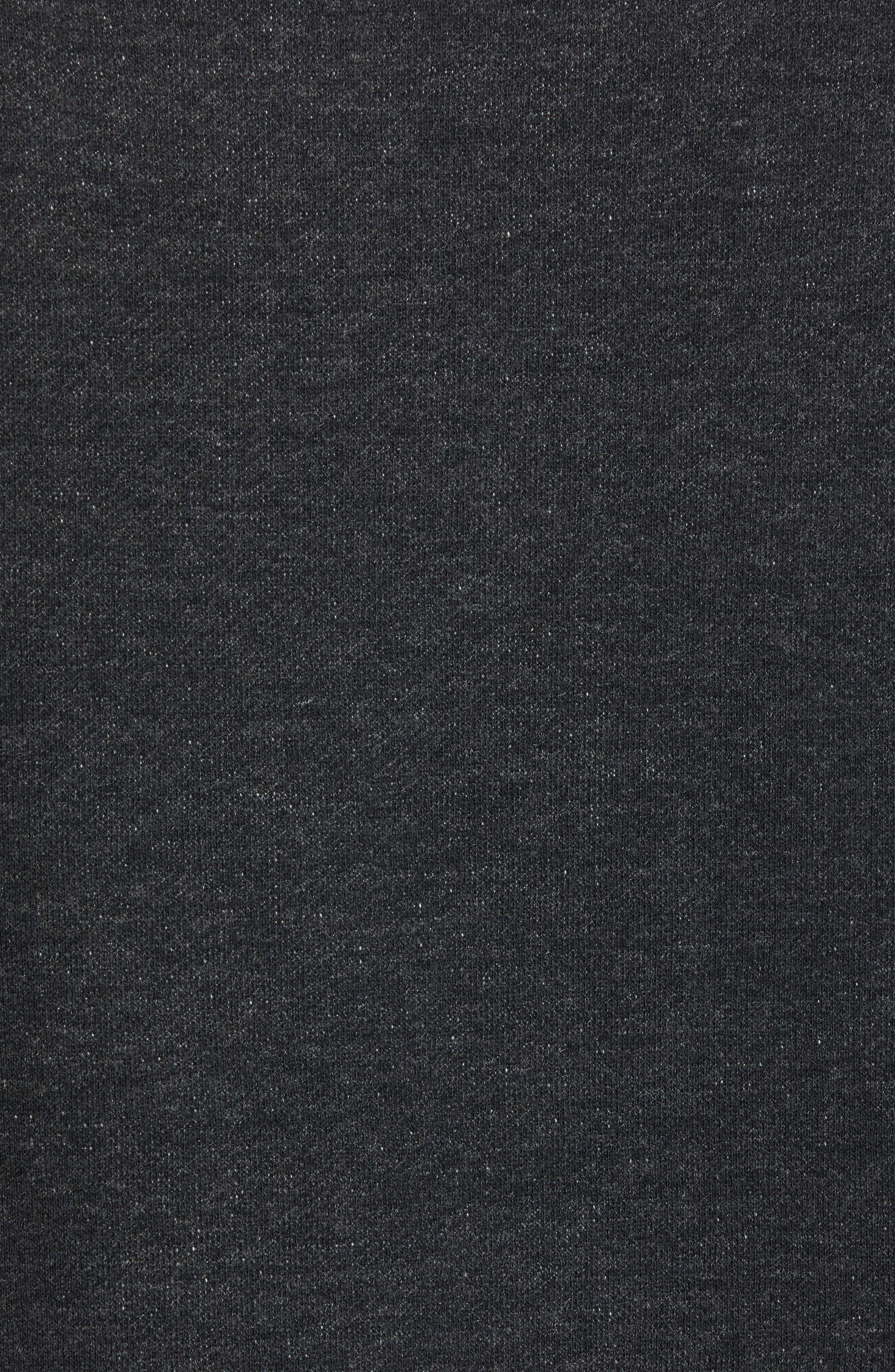 Wings Light Short Sleeve Sweatshirt,                             Alternate thumbnail 5, color,                             Black Heather/ Black