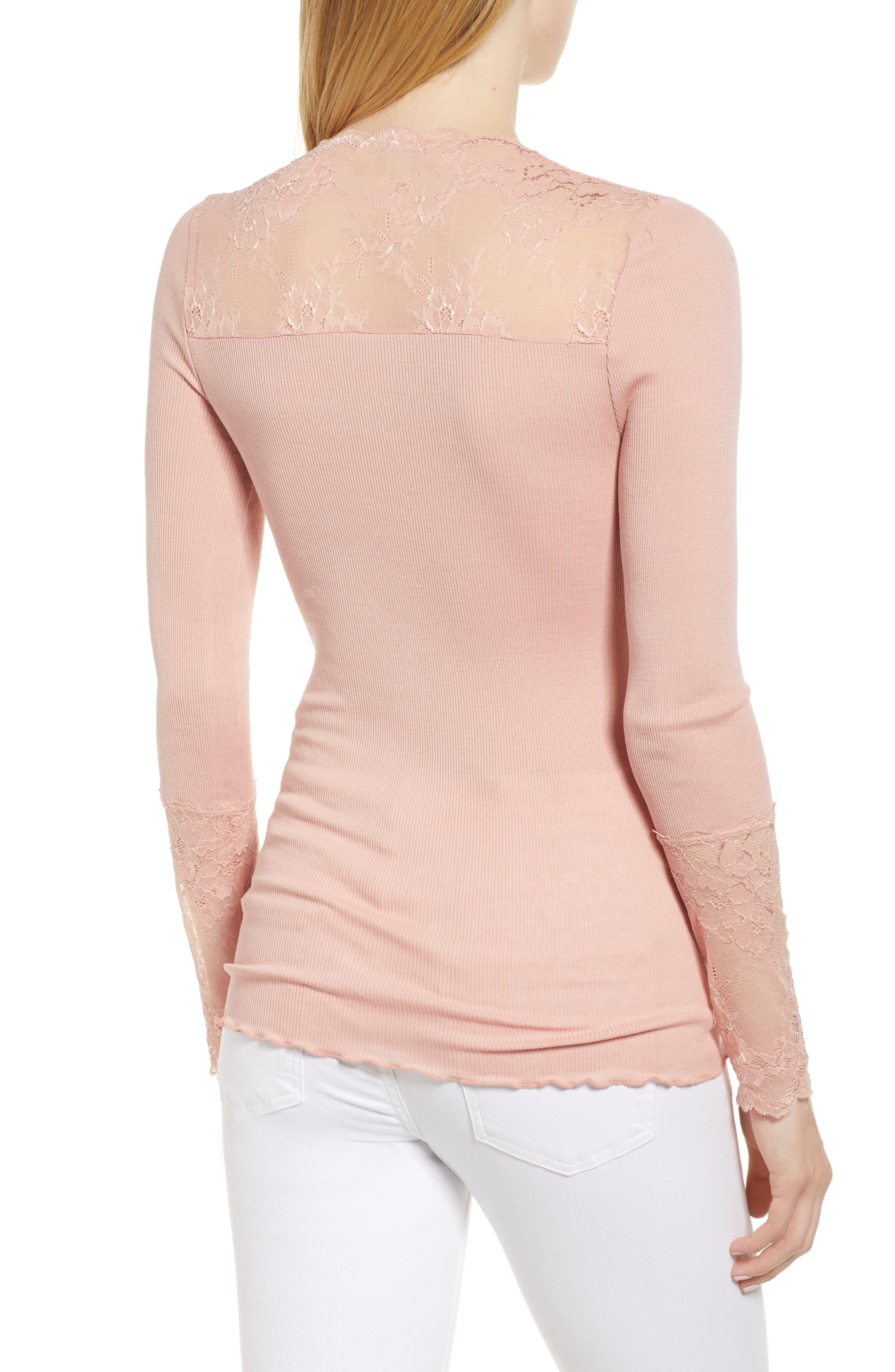 Alternate Image 2  - Rosemunde Brigit Lace Embellished Silk Blend Top