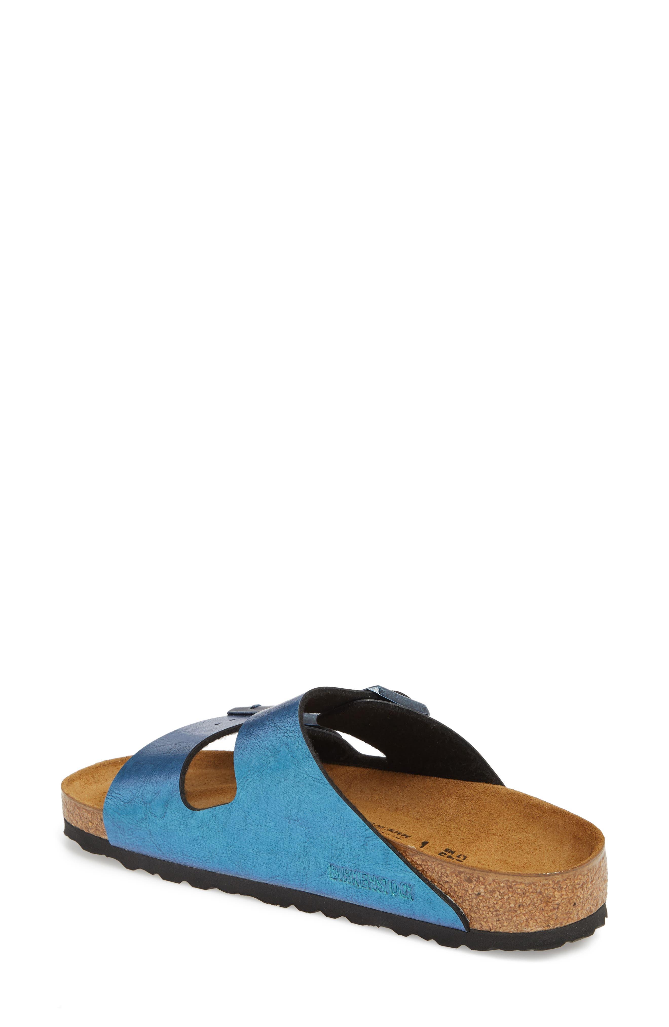 Arizona Graceful Birko-Flor<sup>™</sup> Sandal,                             Alternate thumbnail 2, color,                             Blue
