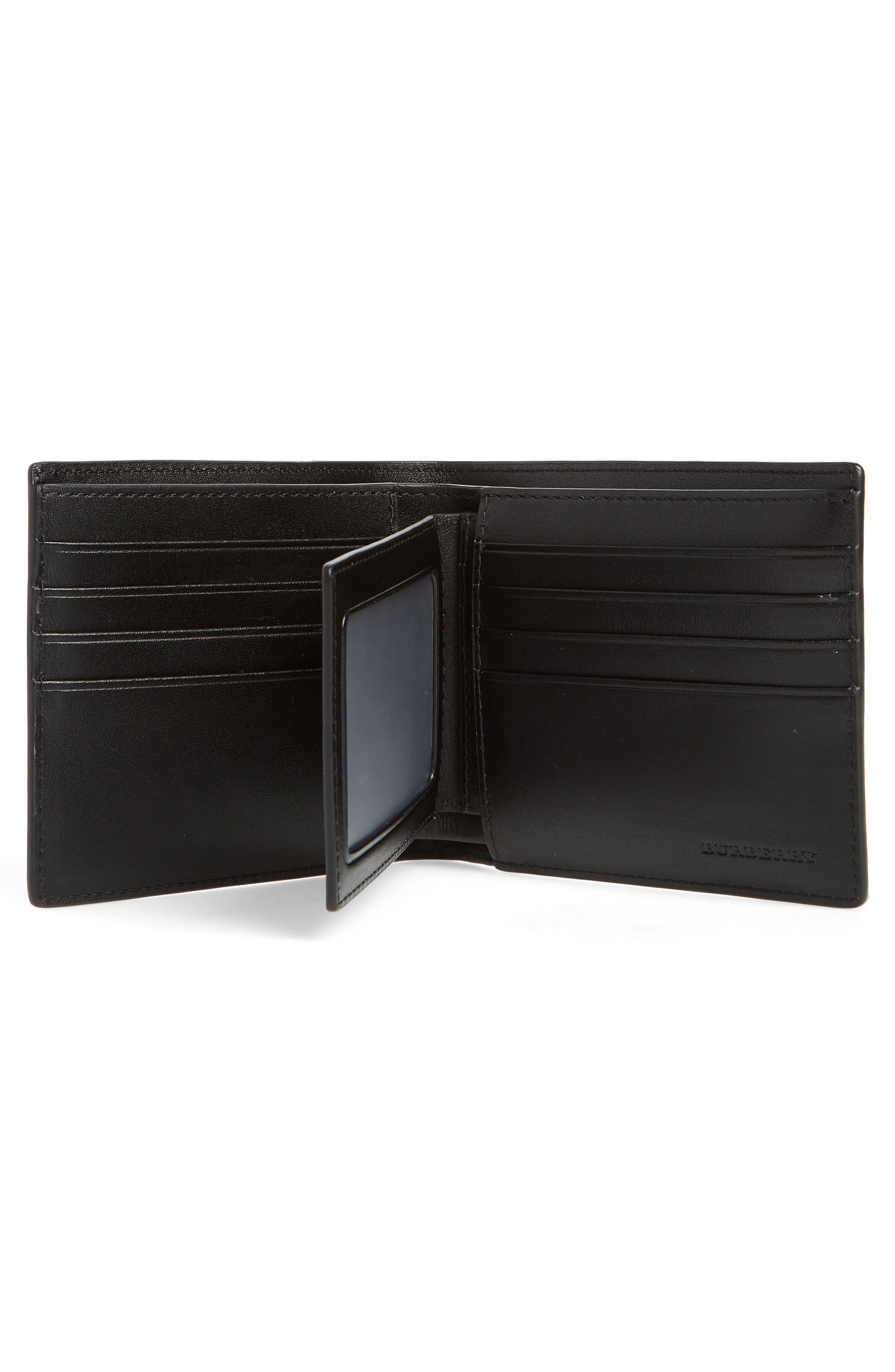 Ronan Check Billfold Wallet,                             Alternate thumbnail 2, color,                             Navy/ Black
