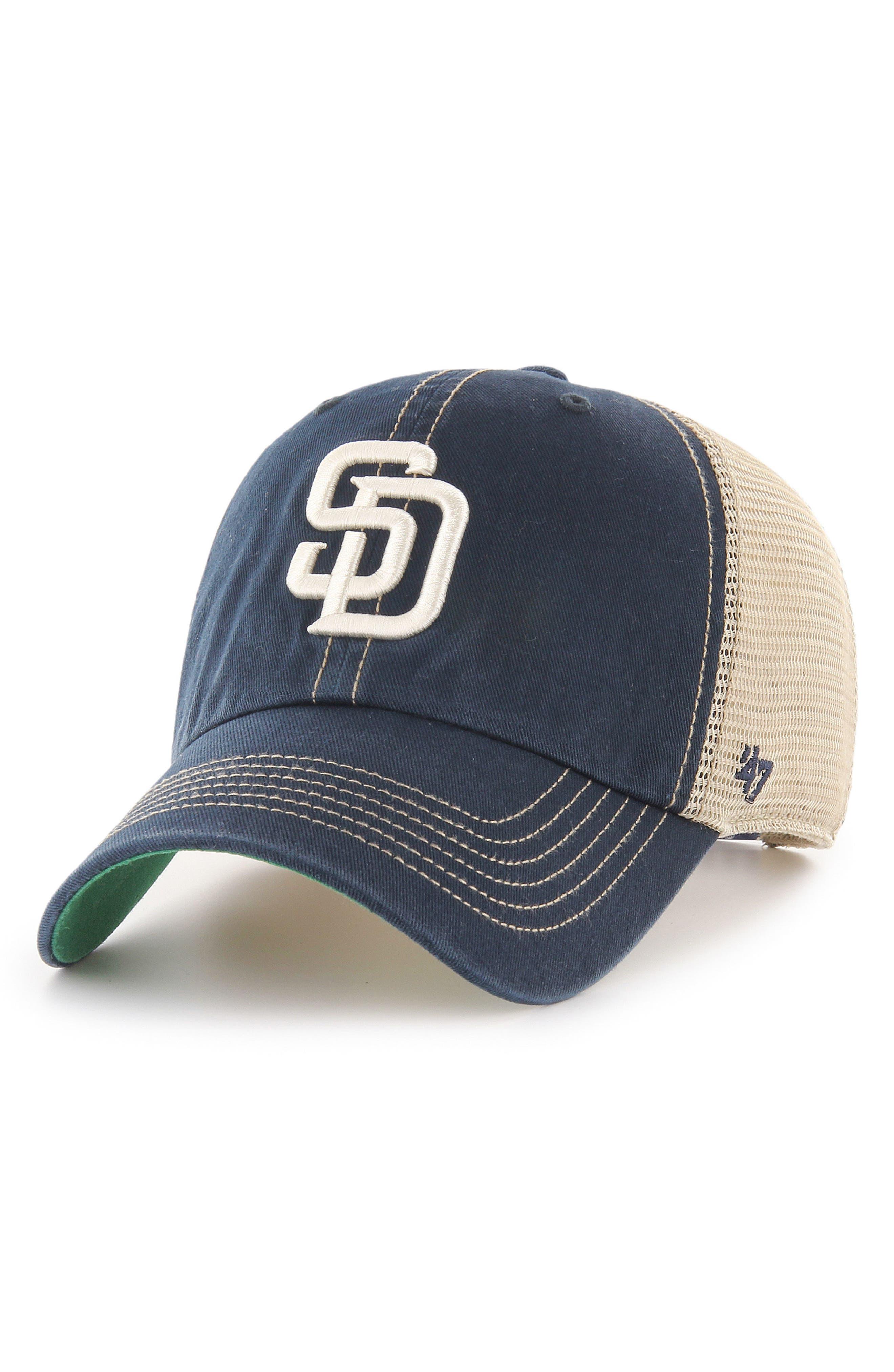 MLB Trawler Ball Cap,                             Main thumbnail 1, color,                             San Diego Padres