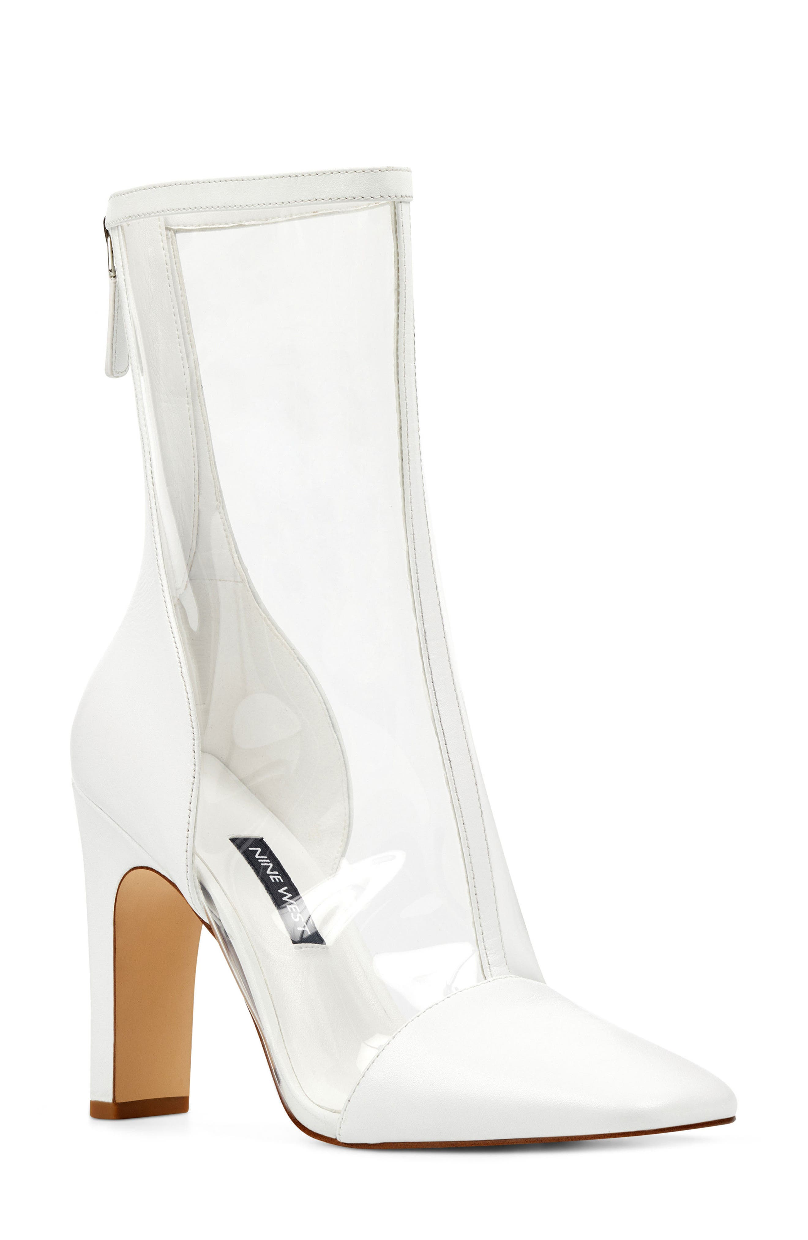 Quitend Boot,                         Main,                         color, Clear/ White