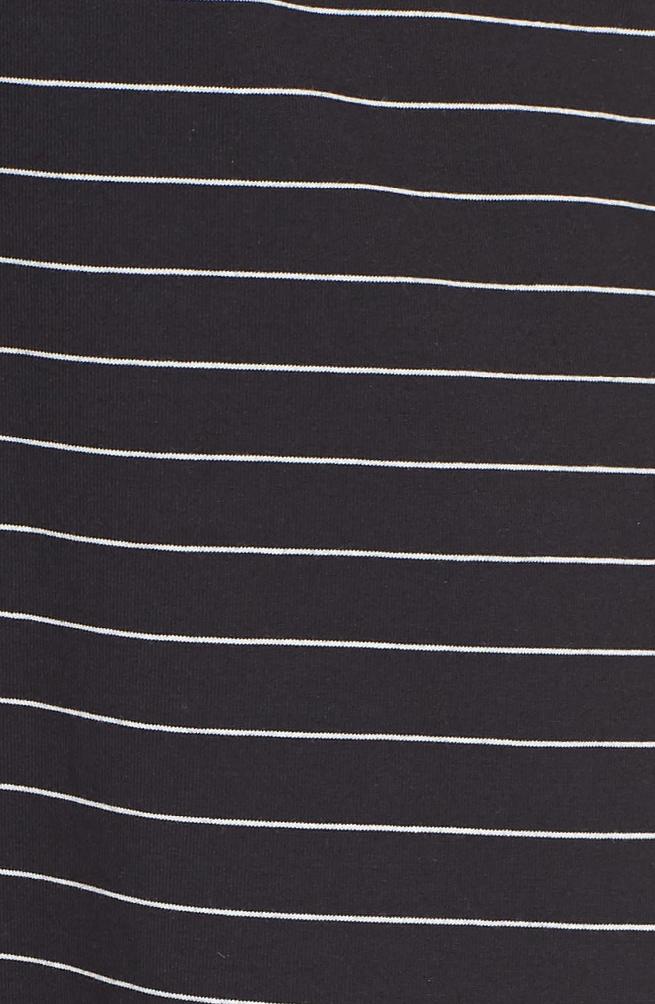 Suzanne Knot Front Dress,                             Alternate thumbnail 7, color,                             Black