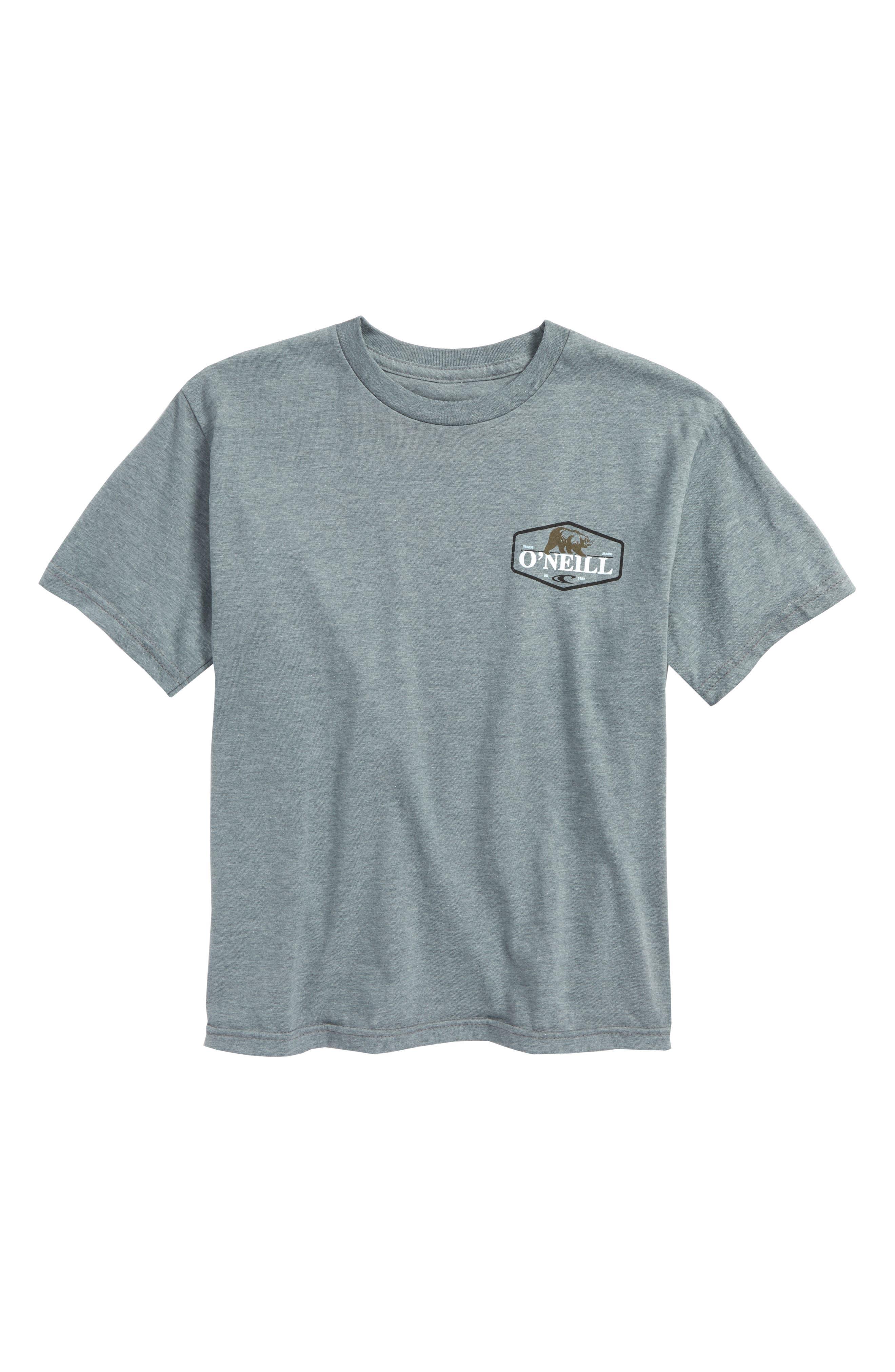 O'Neill Grizzly Bear Logo Screenprint T-Shirt (Big Boys)