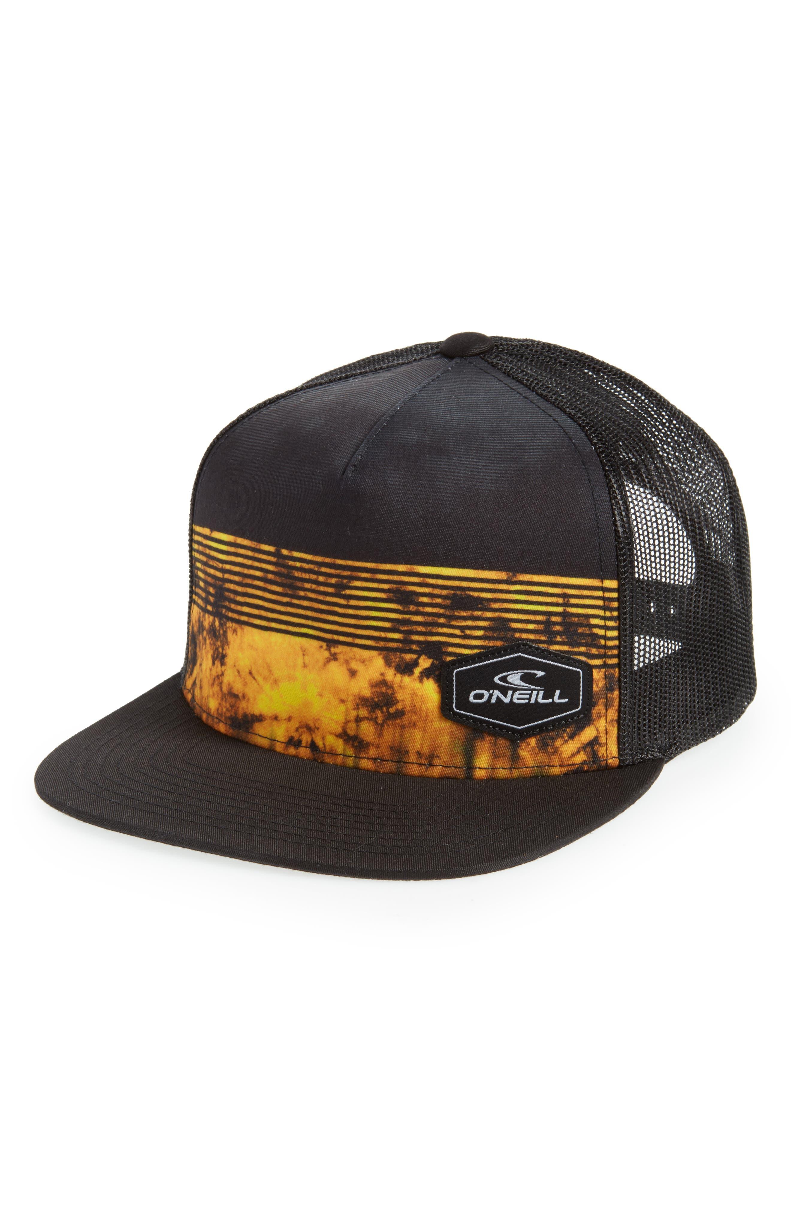 Hyperfreak Mesh Snapback Trucker Cap,                         Main,                         color, Black
