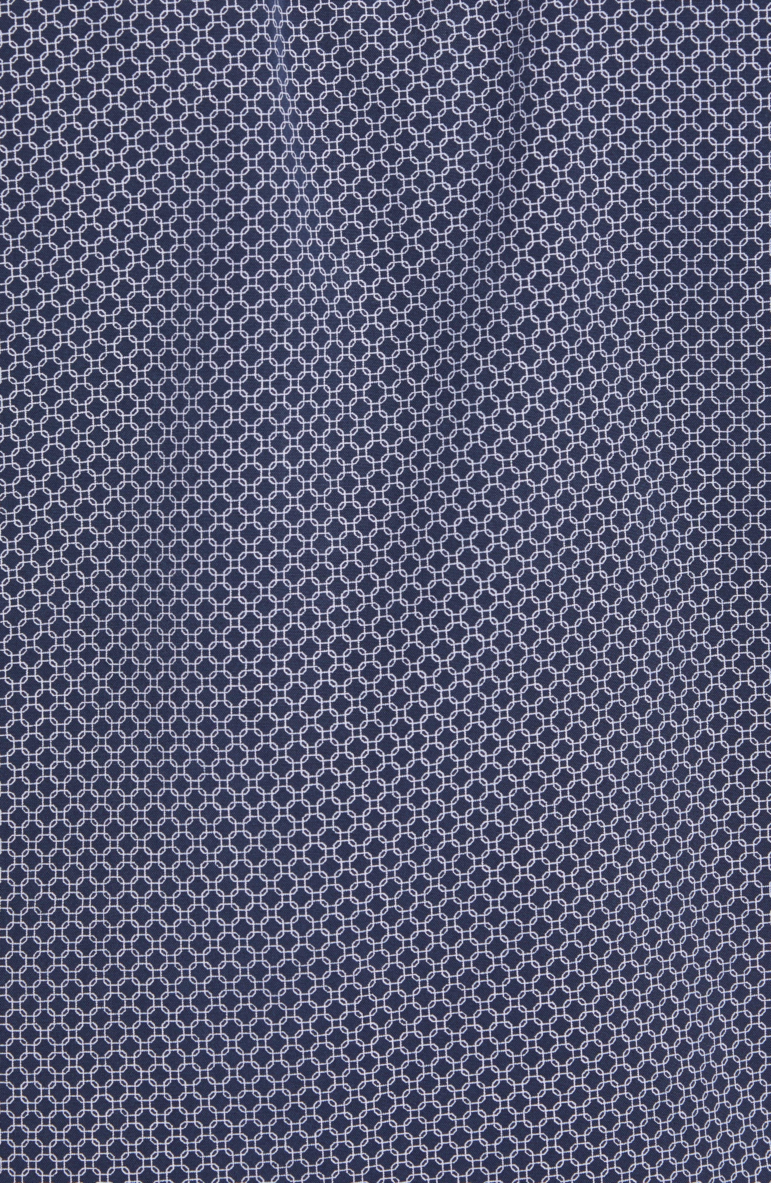 Slim Fit Short Sleeve Sport Shirt,                             Alternate thumbnail 5, color,                             Navy