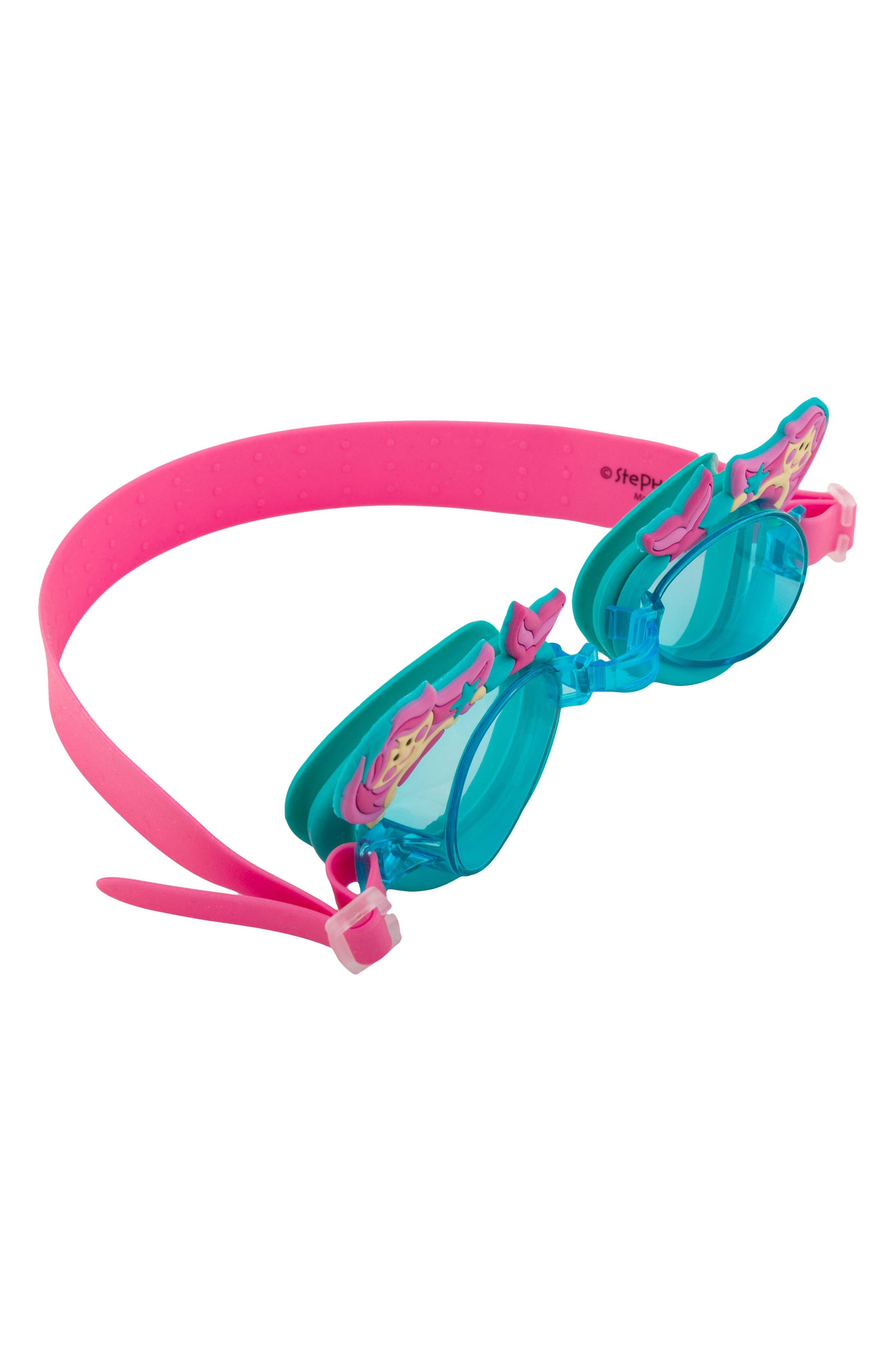 Bag, Hooded Towel & Goggles,                             Alternate thumbnail 4, color,                             Pink Mermaid