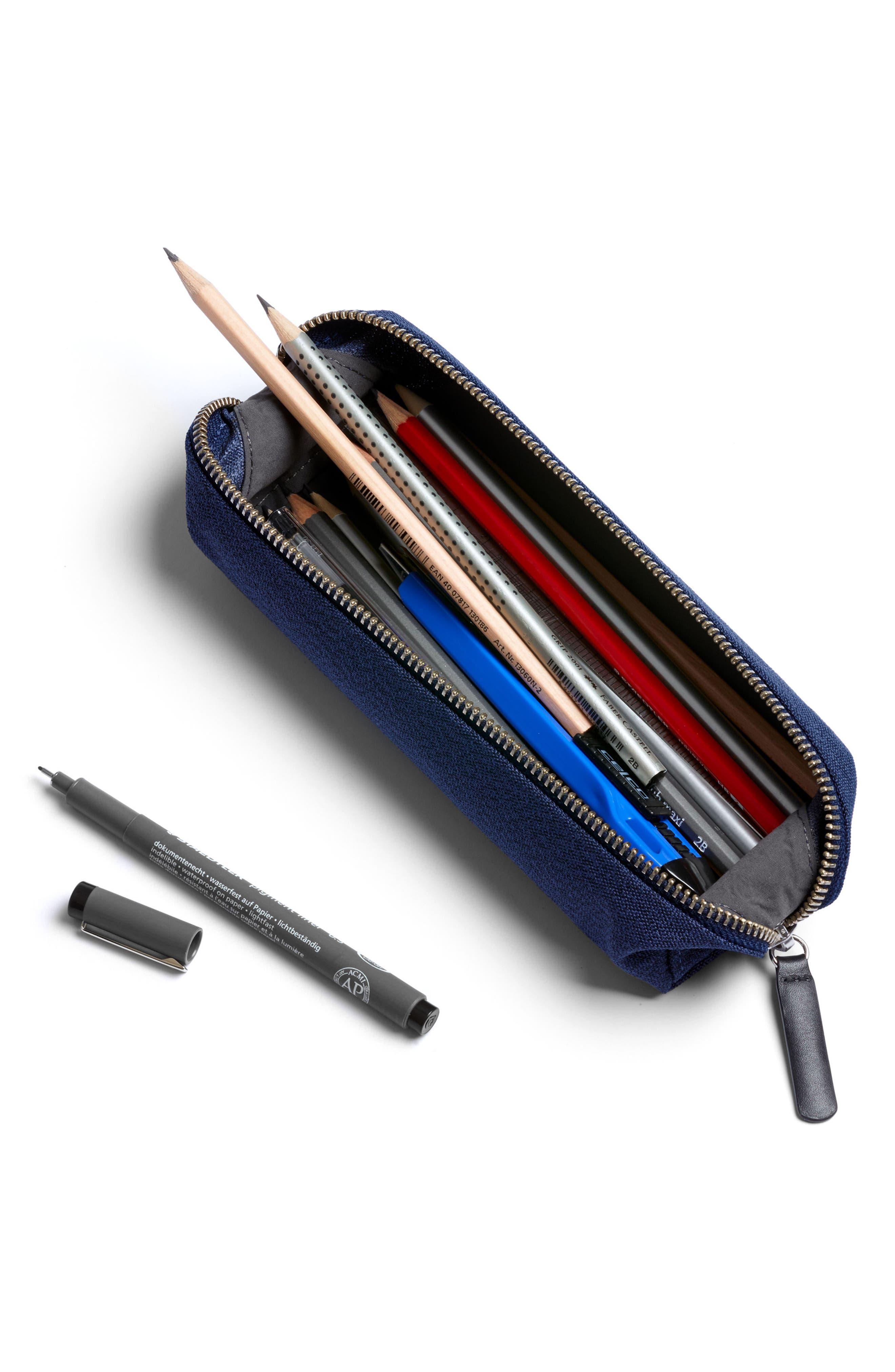 Canvas Pencil Case,                             Alternate thumbnail 4, color,                             Ink Blue